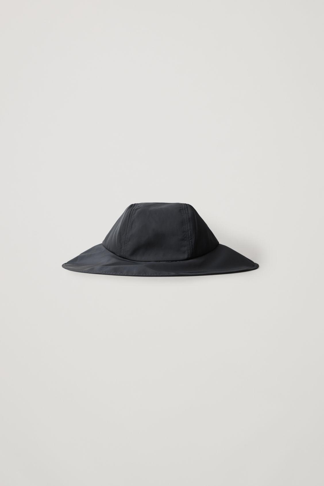 Cos Wide Brim Nylon Hat In Blue