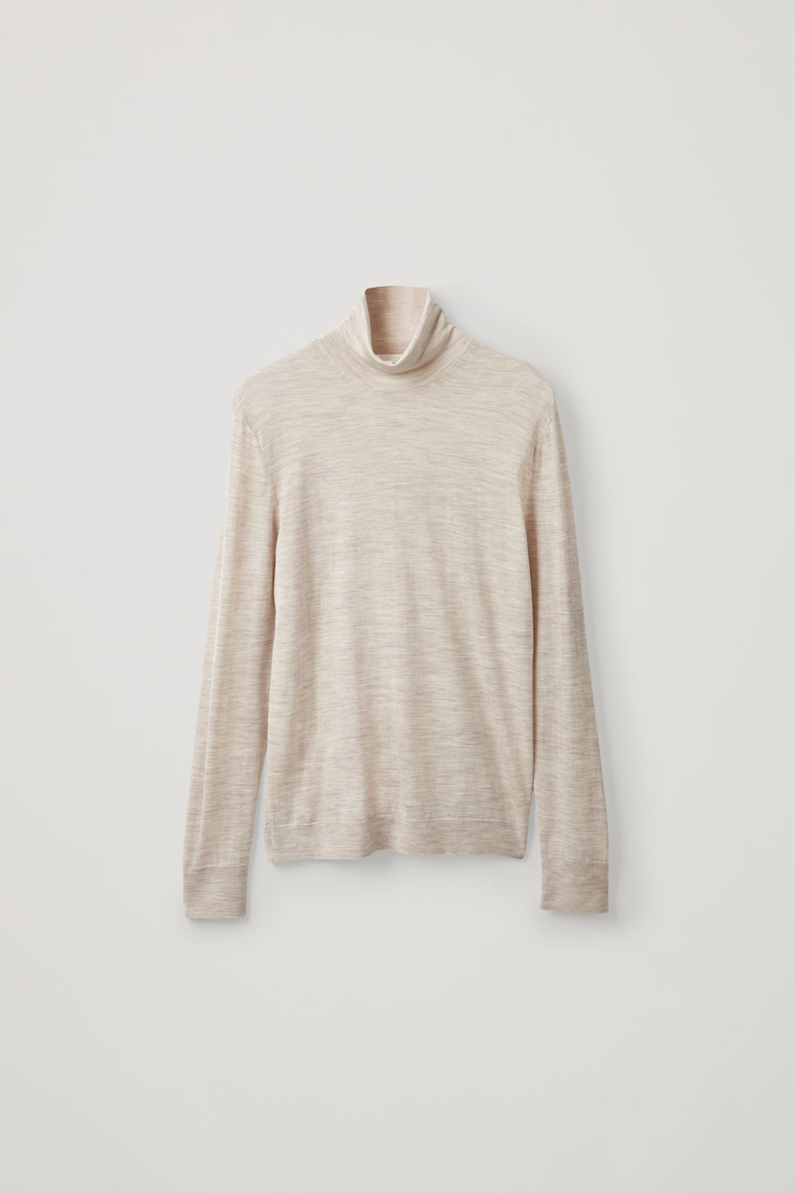 Cos Merino Roll-Neck Sweater In Beige