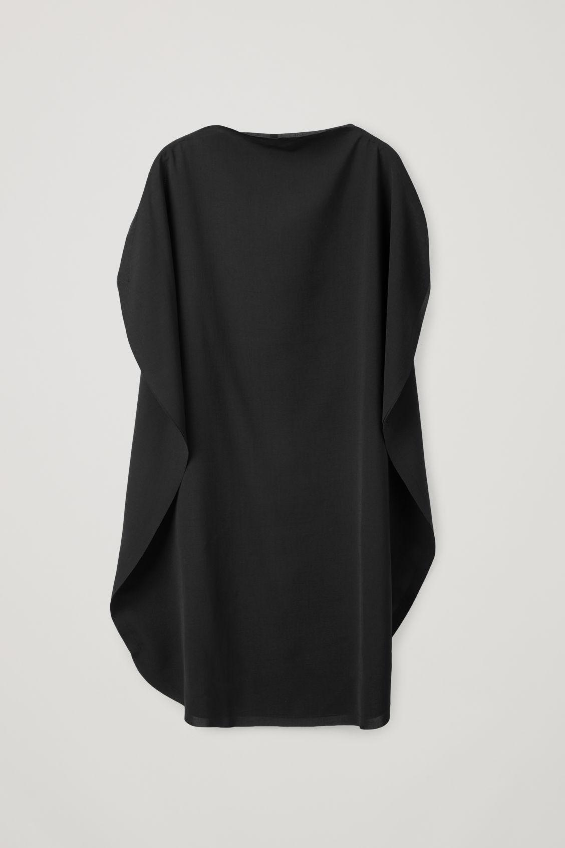 Cos Circle-cut Dress In Black