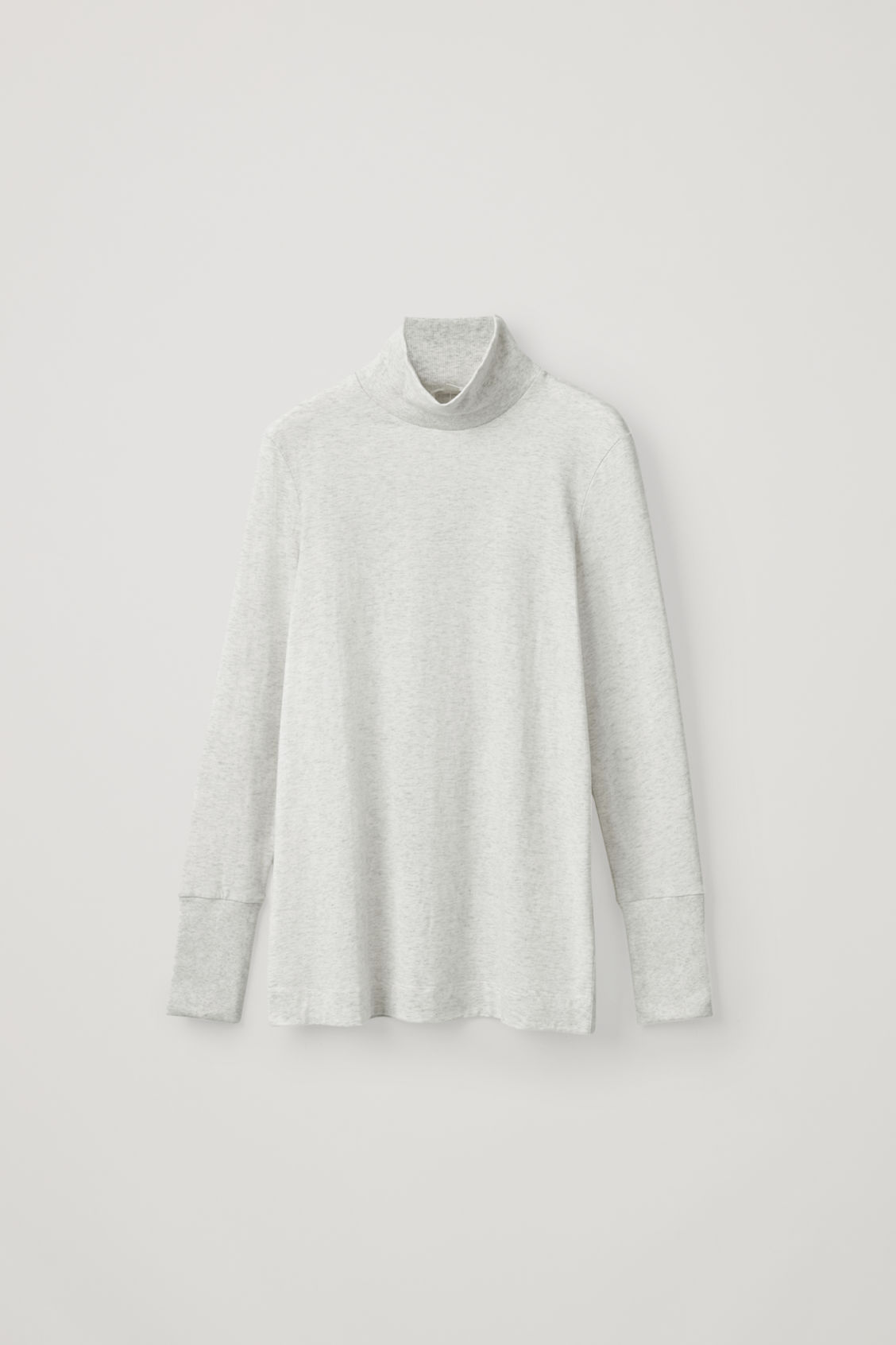 Cos Jersey Roll-Neck Top In White