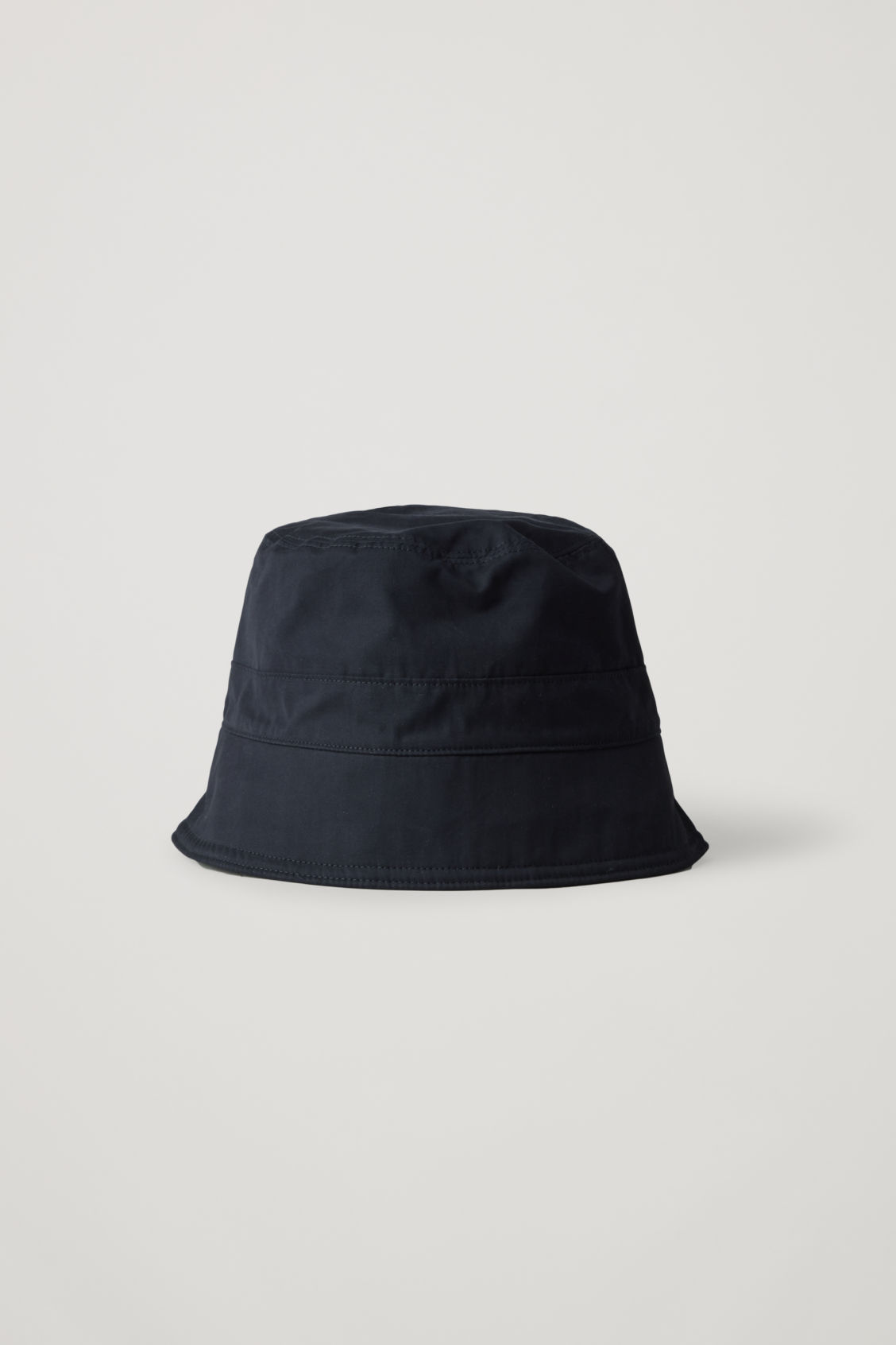 Cos Topstitched Bucket Hat In Blue