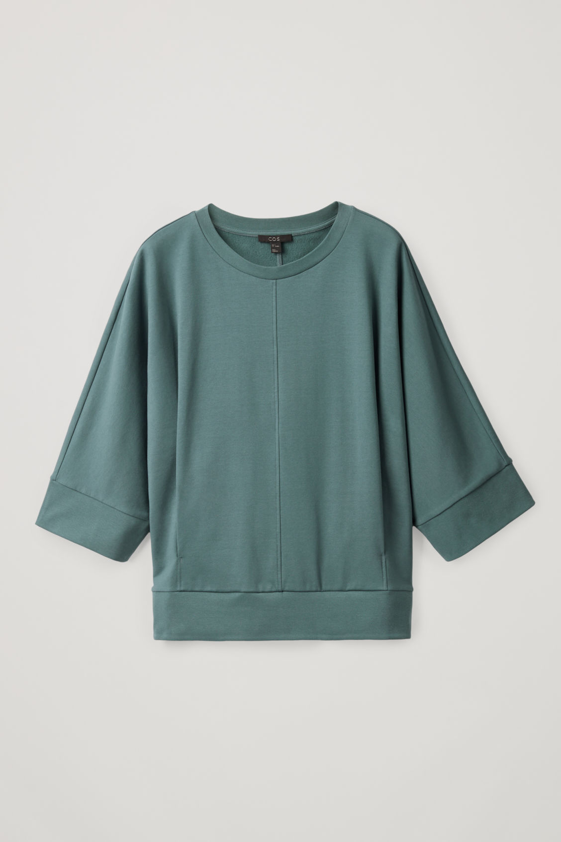 Cos Oversized Jersey Sweatshirt In Turquoise