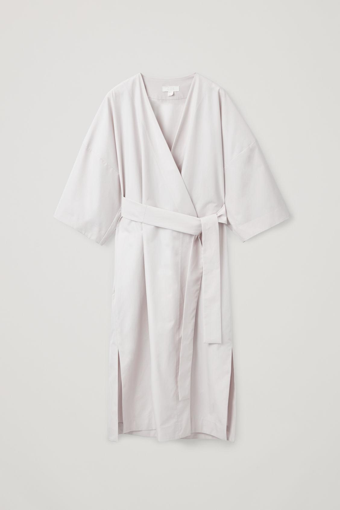 91b7078323d4 Cos Kimono-Inspired Wrap Dress In Beige | ModeSens