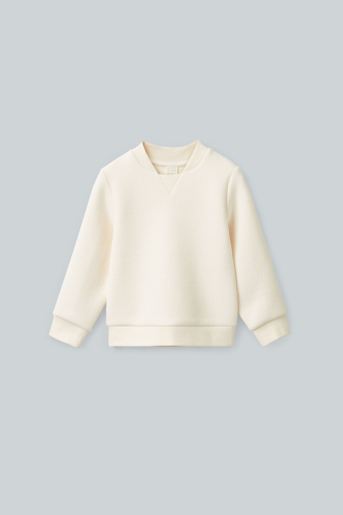 Cos Kids' Textured Cotton-mix Sweatshirt In White
