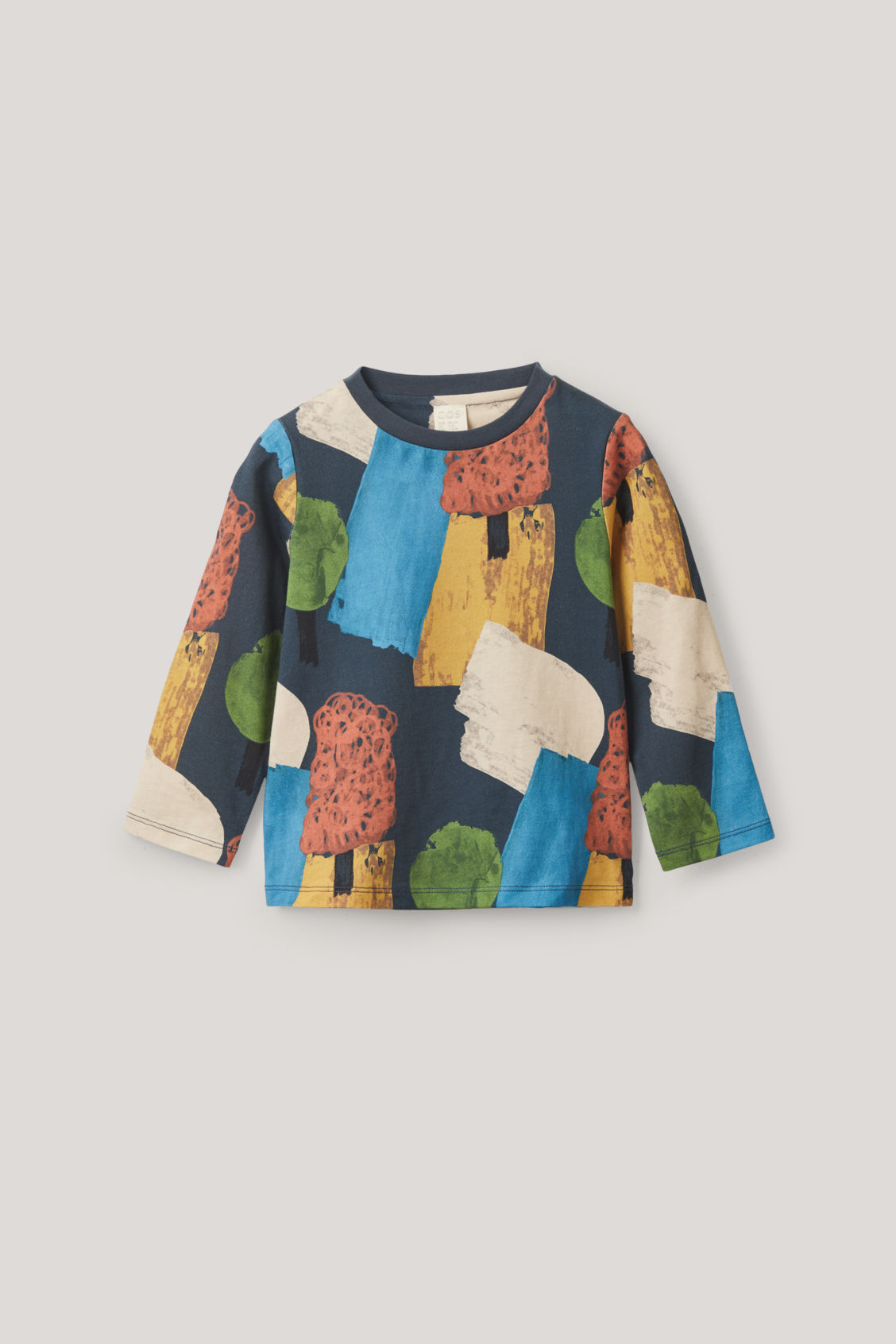 Cos Kids' Printed Cotton T-shirt In Blue