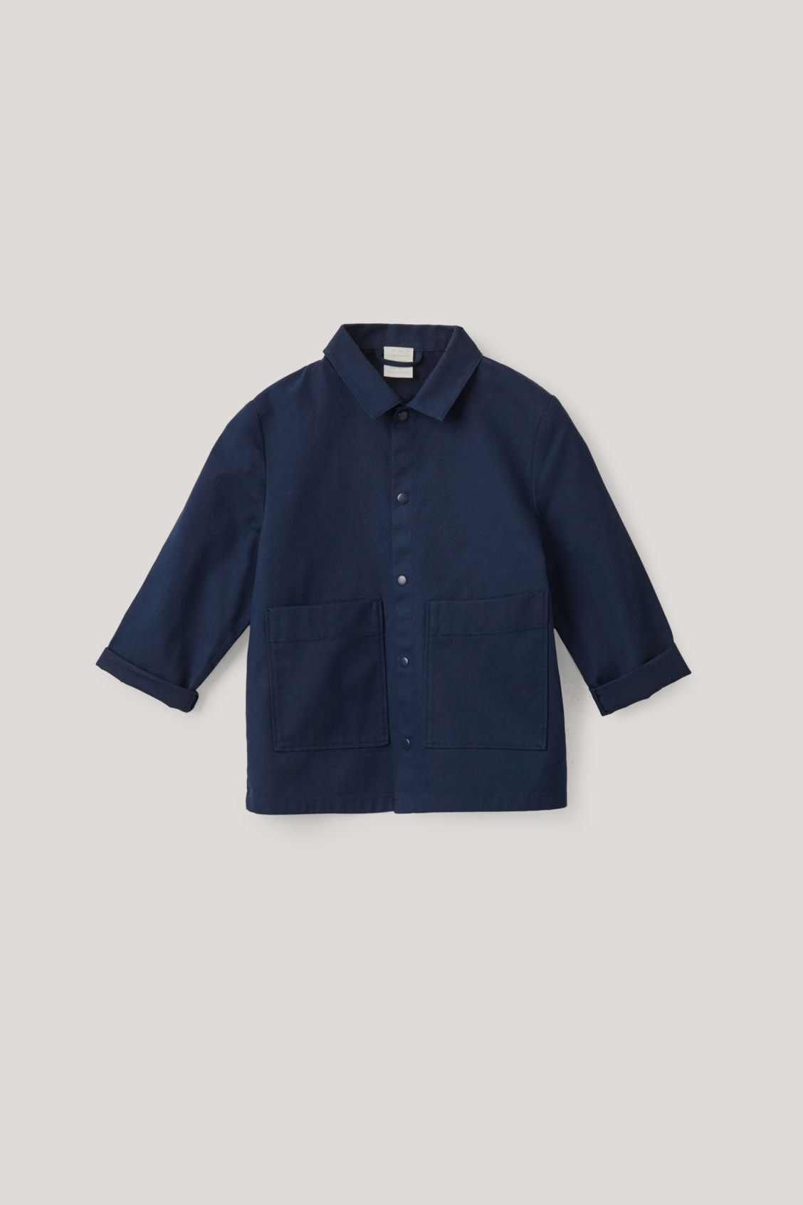Cos Kids' Cotton Overshirt In Blue
