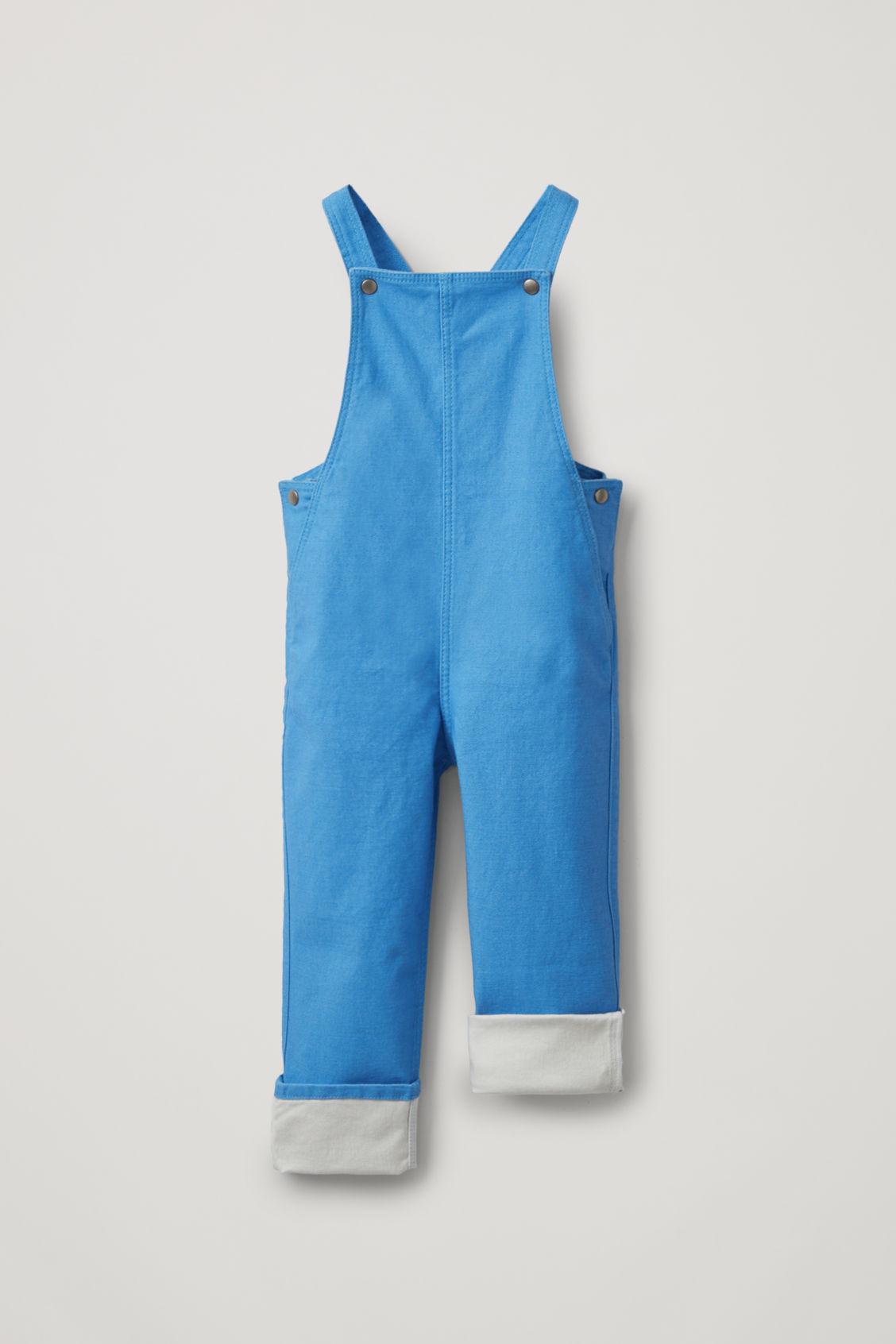 Cos Kids' Organic Cotton Denim Dungarees In Blue
