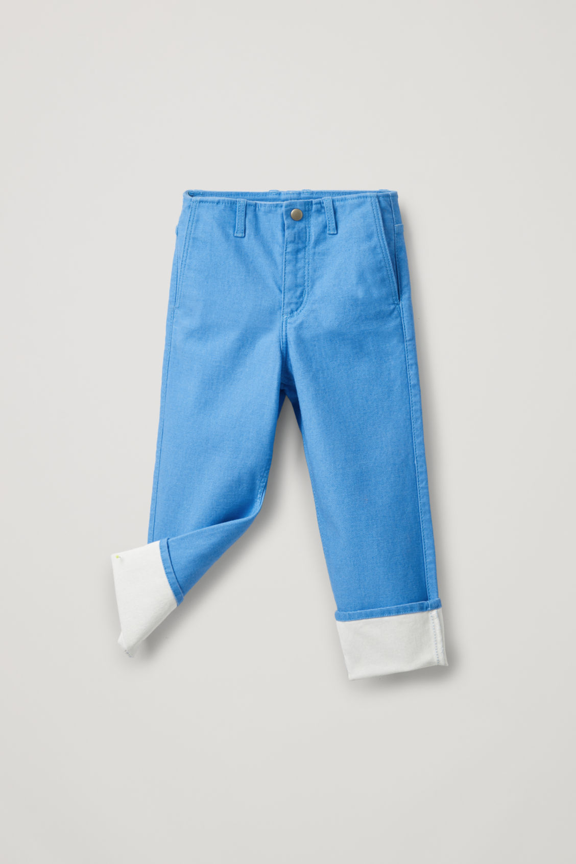 Cos Kids' Coated Organic-cotton Jeans In Blue
