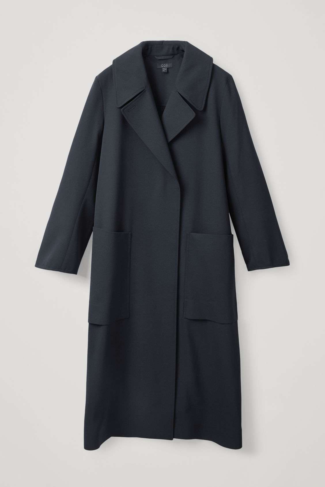Cos Wool-mix Trench Coat In Blue