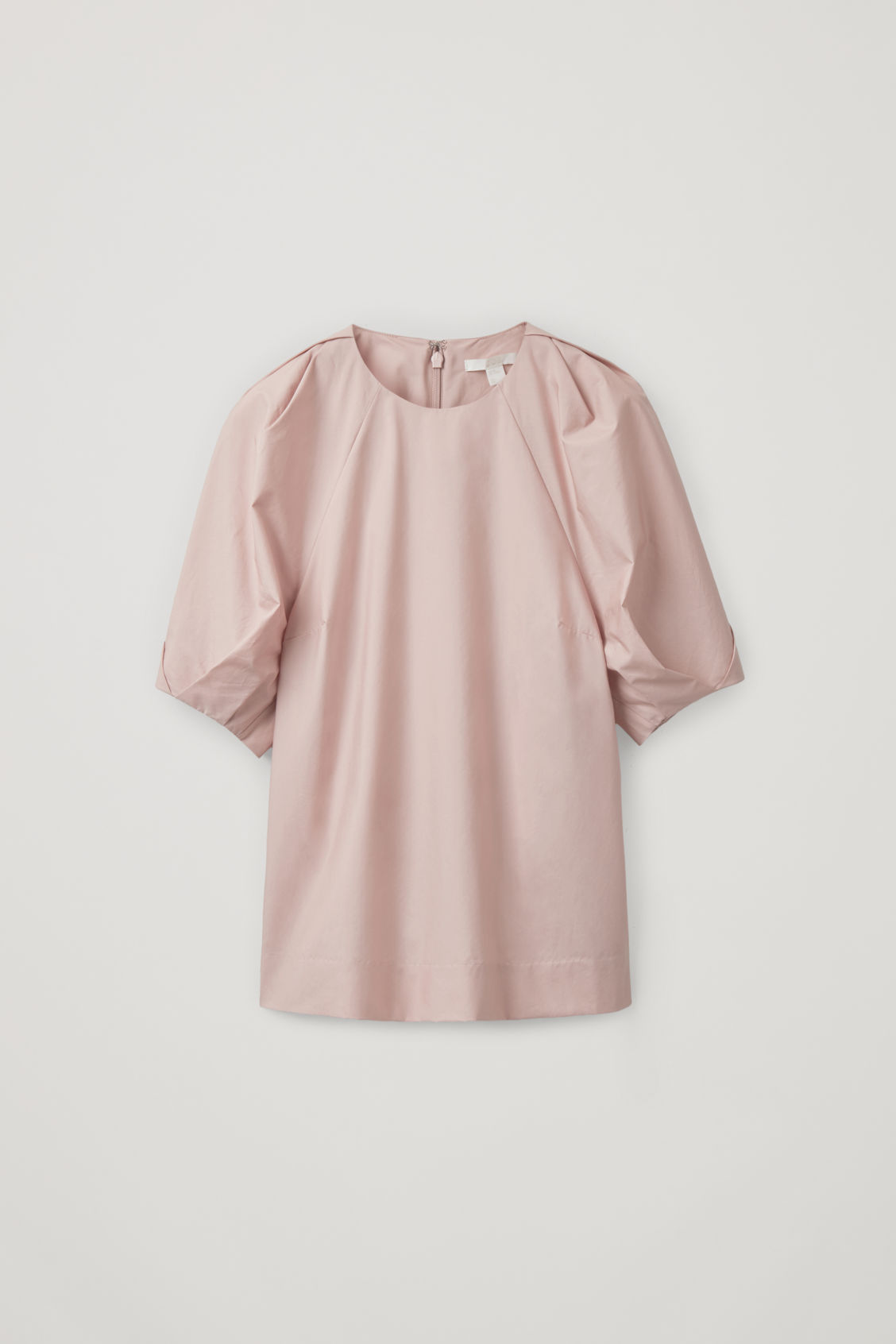 Cos Gathered-sleeve Top In Pink