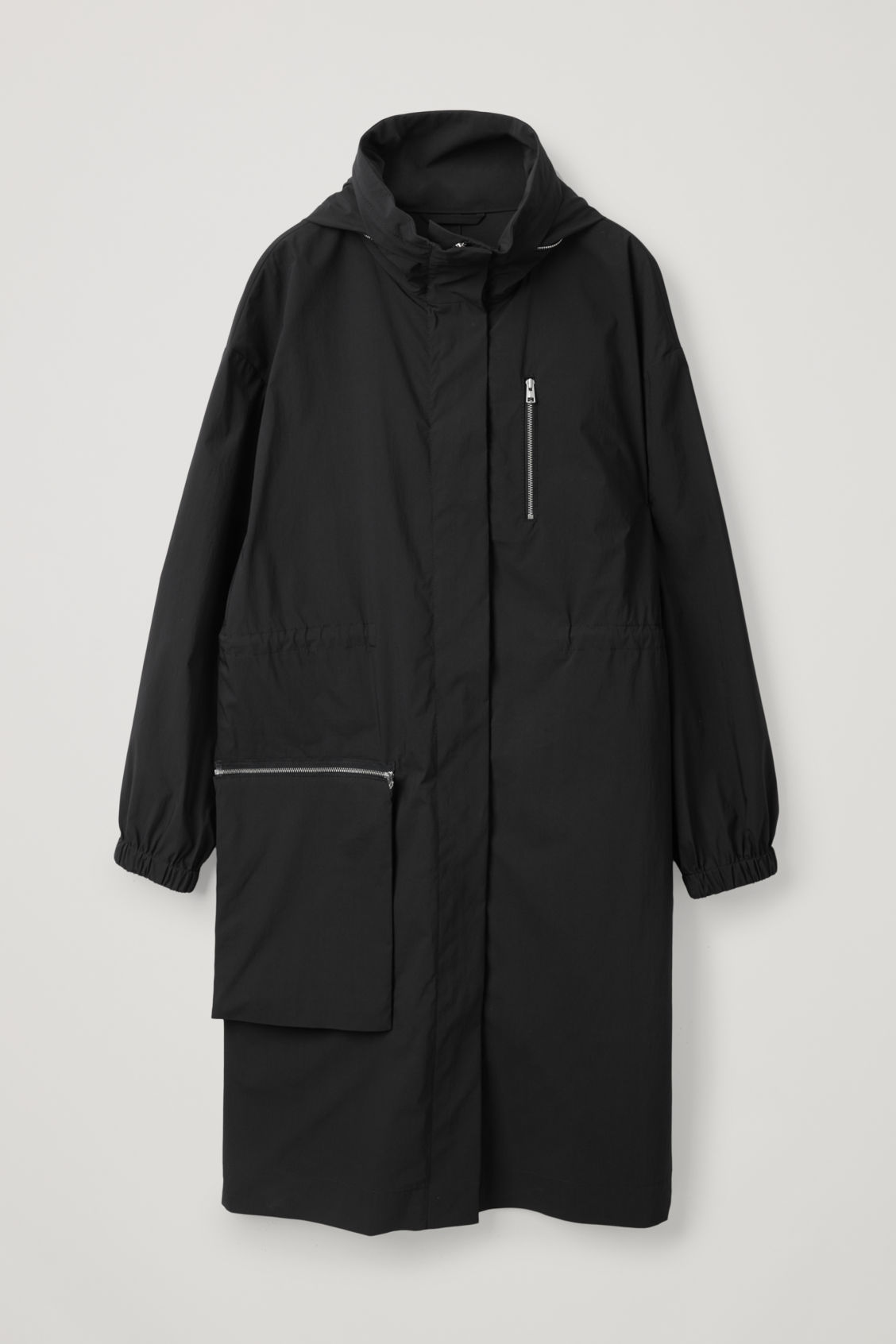 Cos Parka With Detachable Pocket In Blue