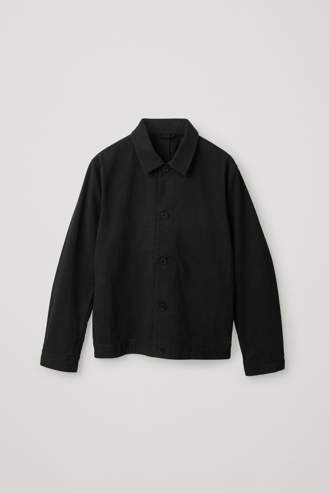 Cos Washed Denim Utility Jacket In Black
