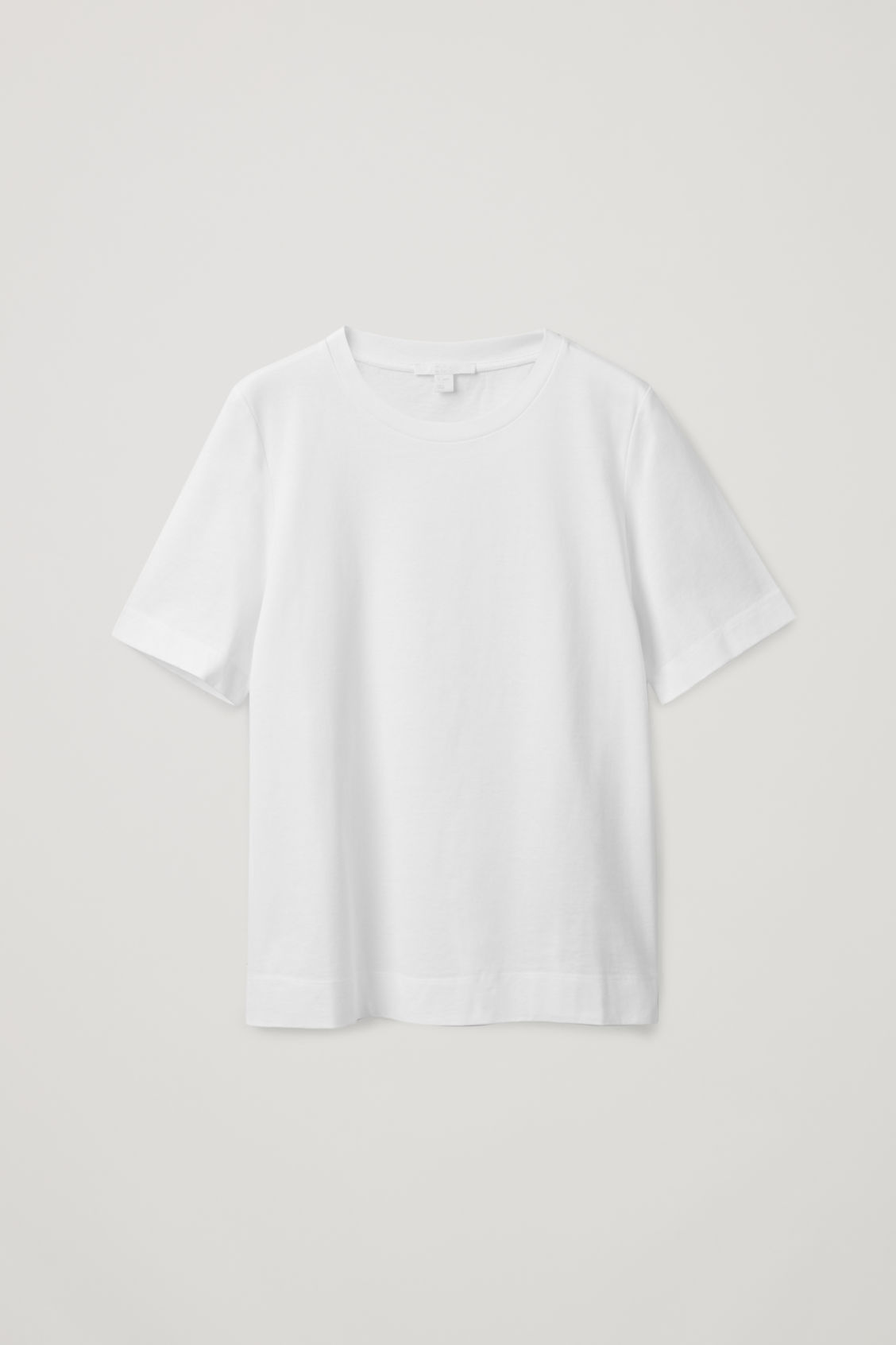 Cos Regular-fit Organic-cotton T-shirt In White