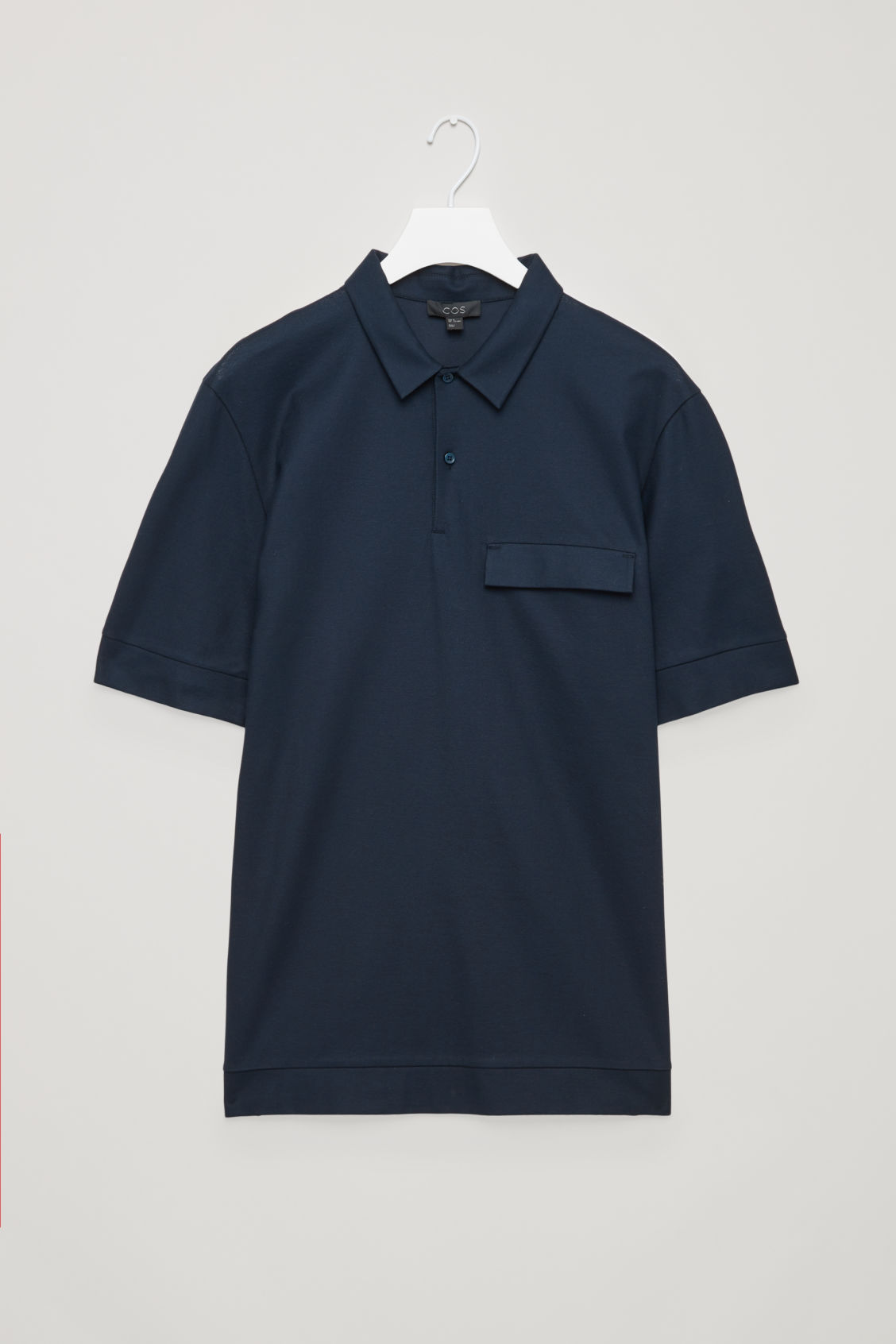 Polo shirt with flap pocket indigo polo shirts cos for Different types of polo shirts