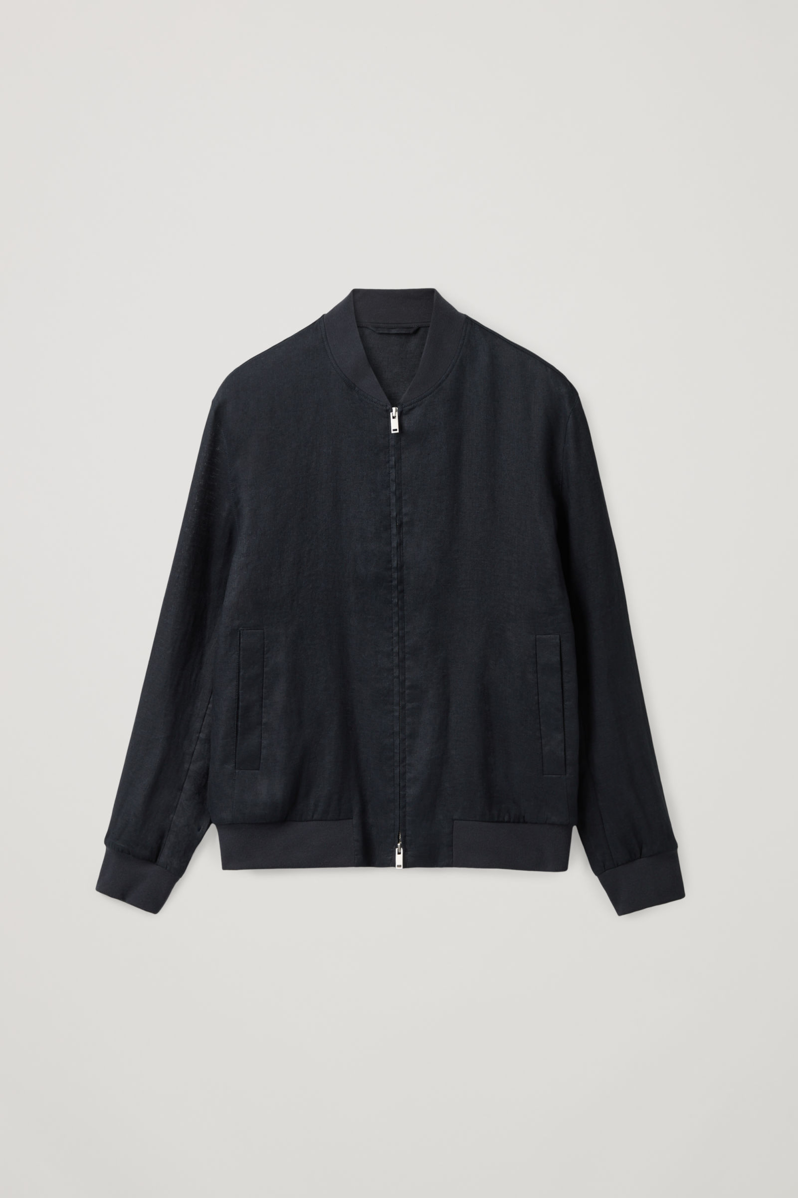COS HEMP BOMBER JACKET,Dark navy