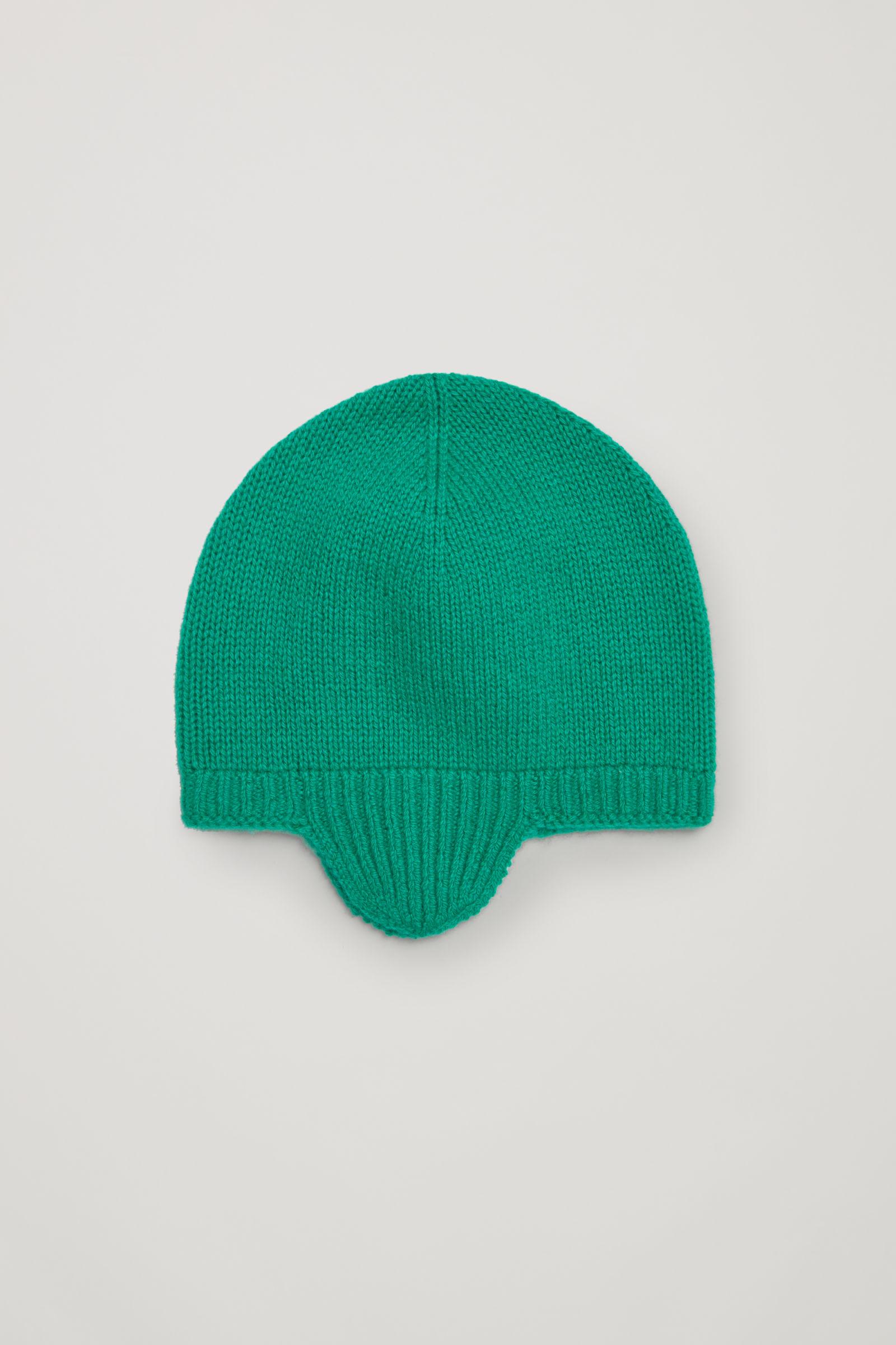 코스 키즈 캐시미어 귀 비니 COS CASHMERE EAR COVER BEANIE,Green