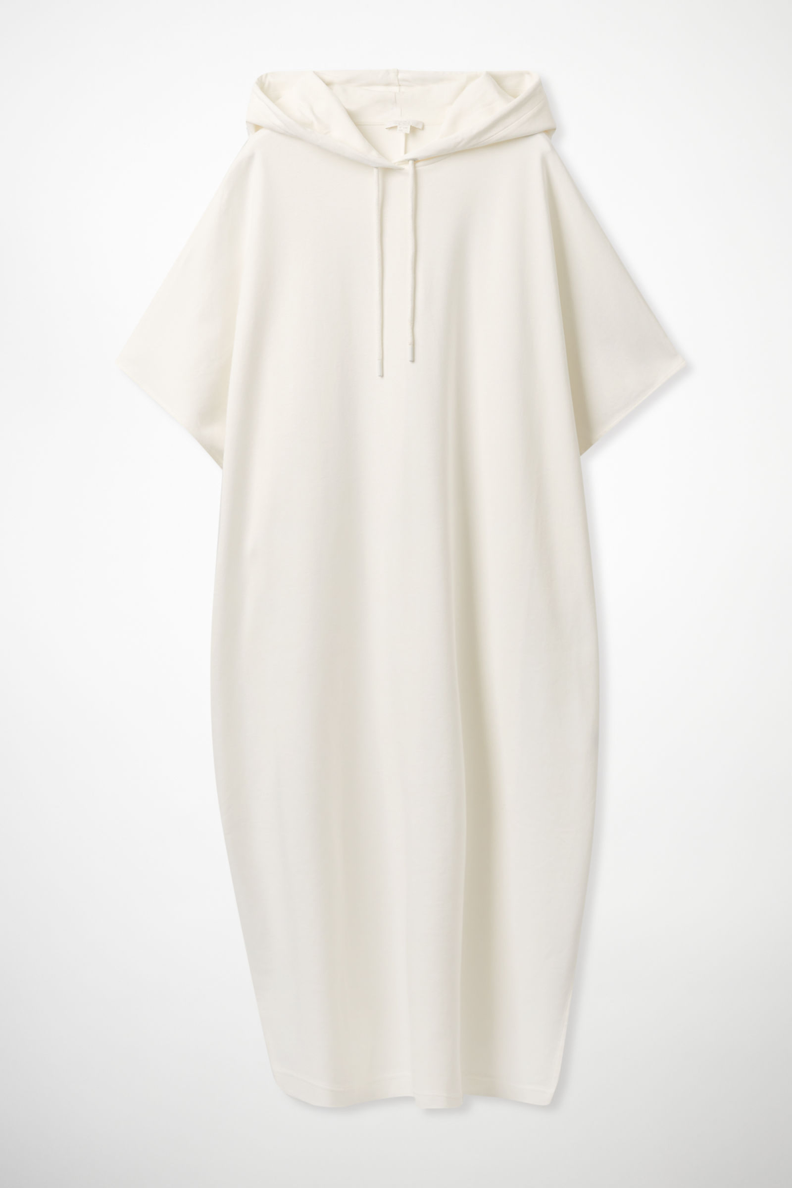 COS HOODED SWEATSHIRT DRESS,off-white