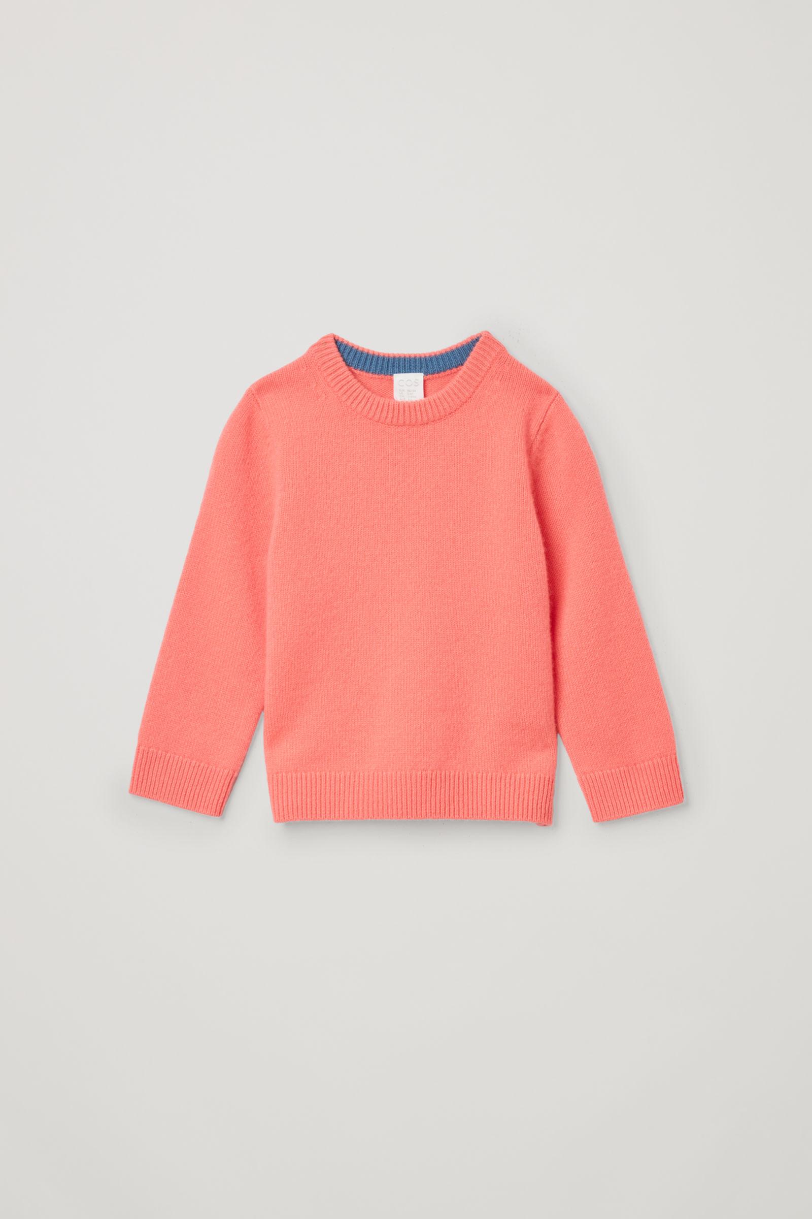코스 키즈 캐시미어 스웨터 COS CASHMERE CREW NECK JUMPER,Orange