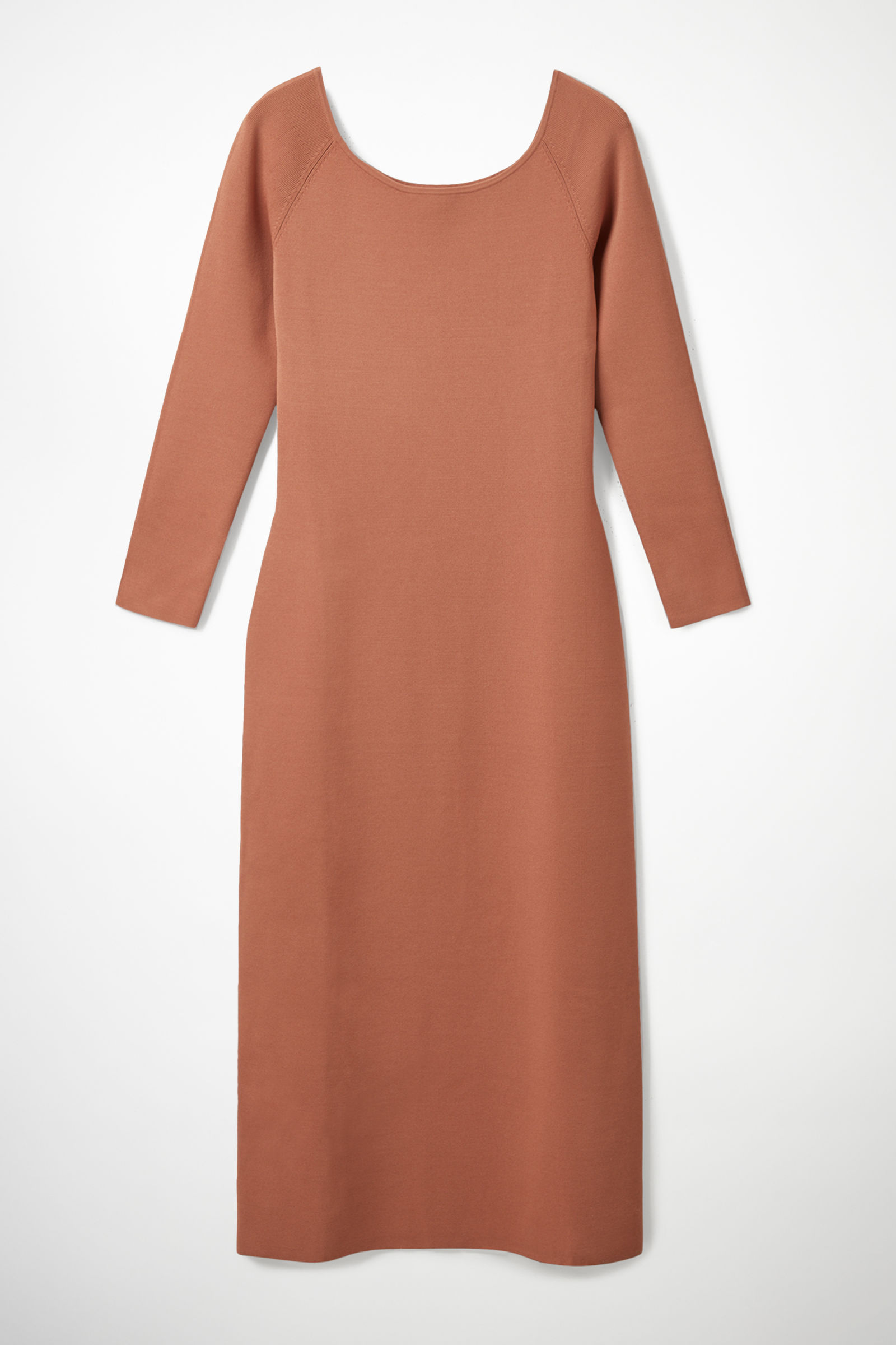 KNITTED OFF-SHOULDER TUBE DRESS - Peach - Dresses - COS US