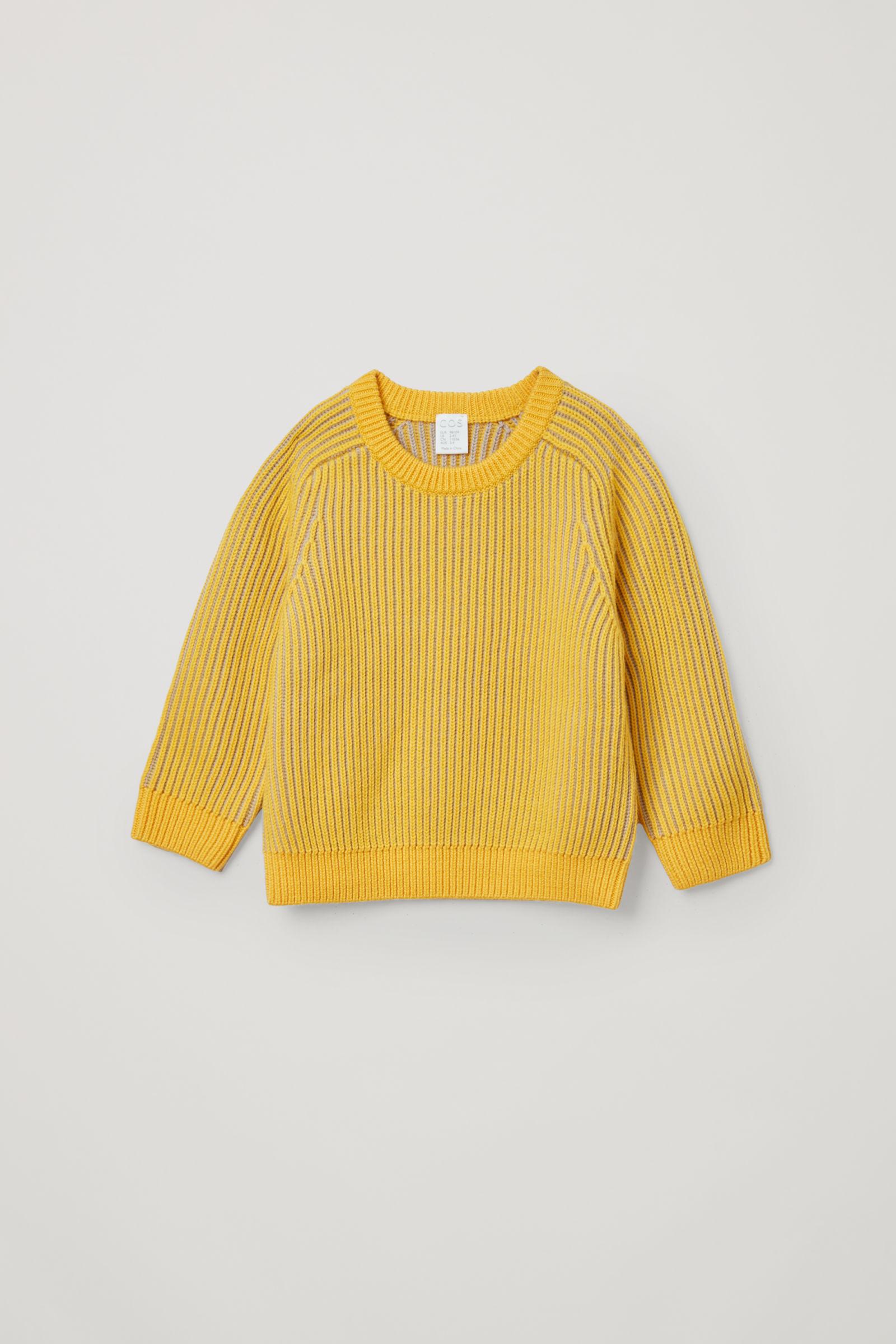 코스 키즈 메리노울 니트 스웨터 COS KNITTED MERINO JUMPER,yellow