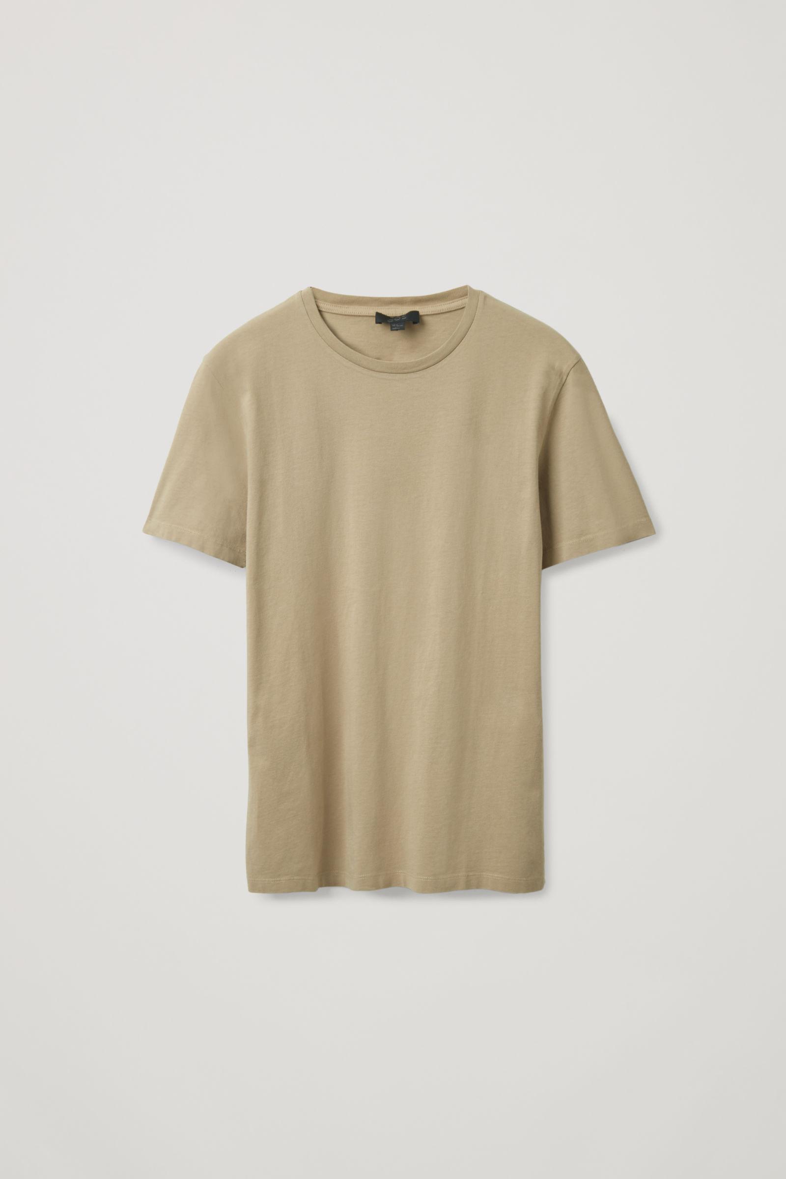 COS REGULAR-FIT T-SHIRT,beige