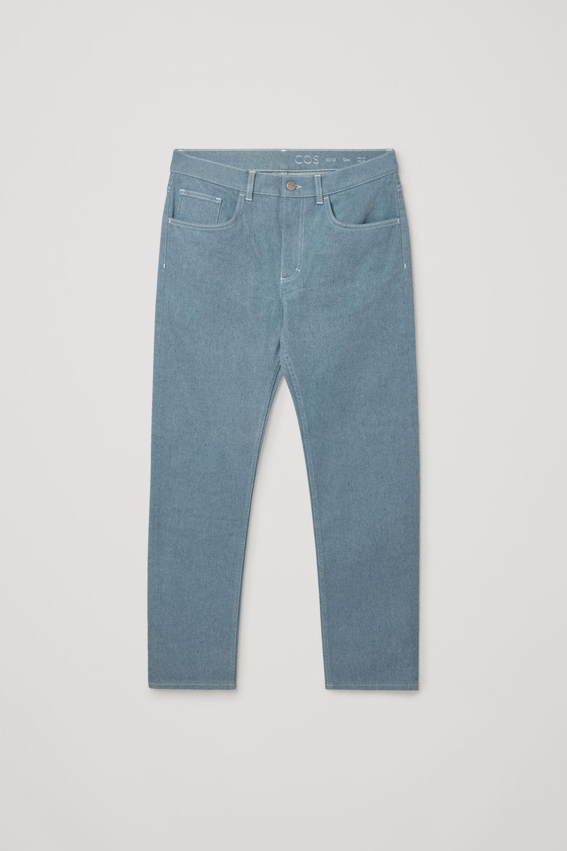 코스 청바지 COS SLIM-LEG JEANS,blue