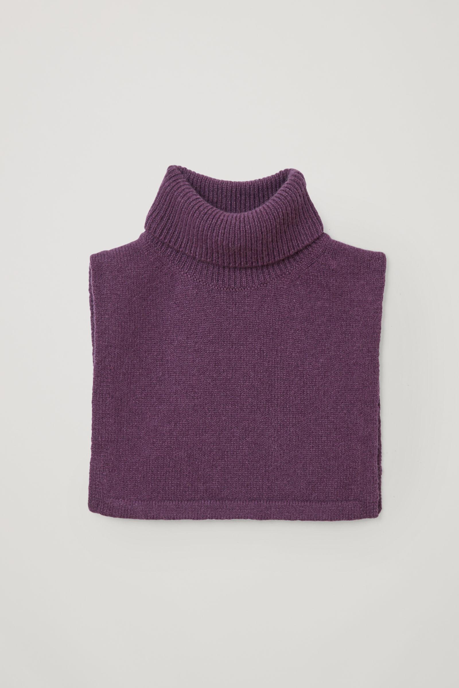 코스 키즈 캐시미어 롤넥 머플러 COS CASHMERE ROLL NECK SCARF,Purple