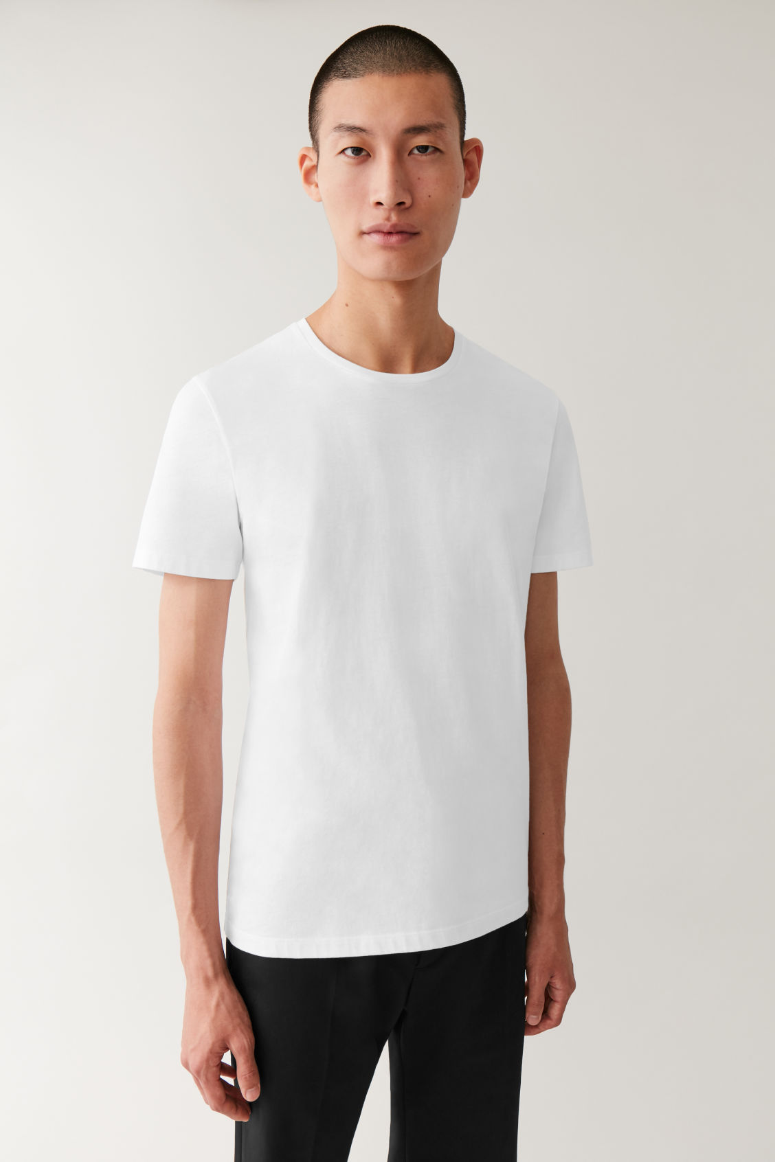 ROUND NECK T SHIRT White Round neck T shirts COS