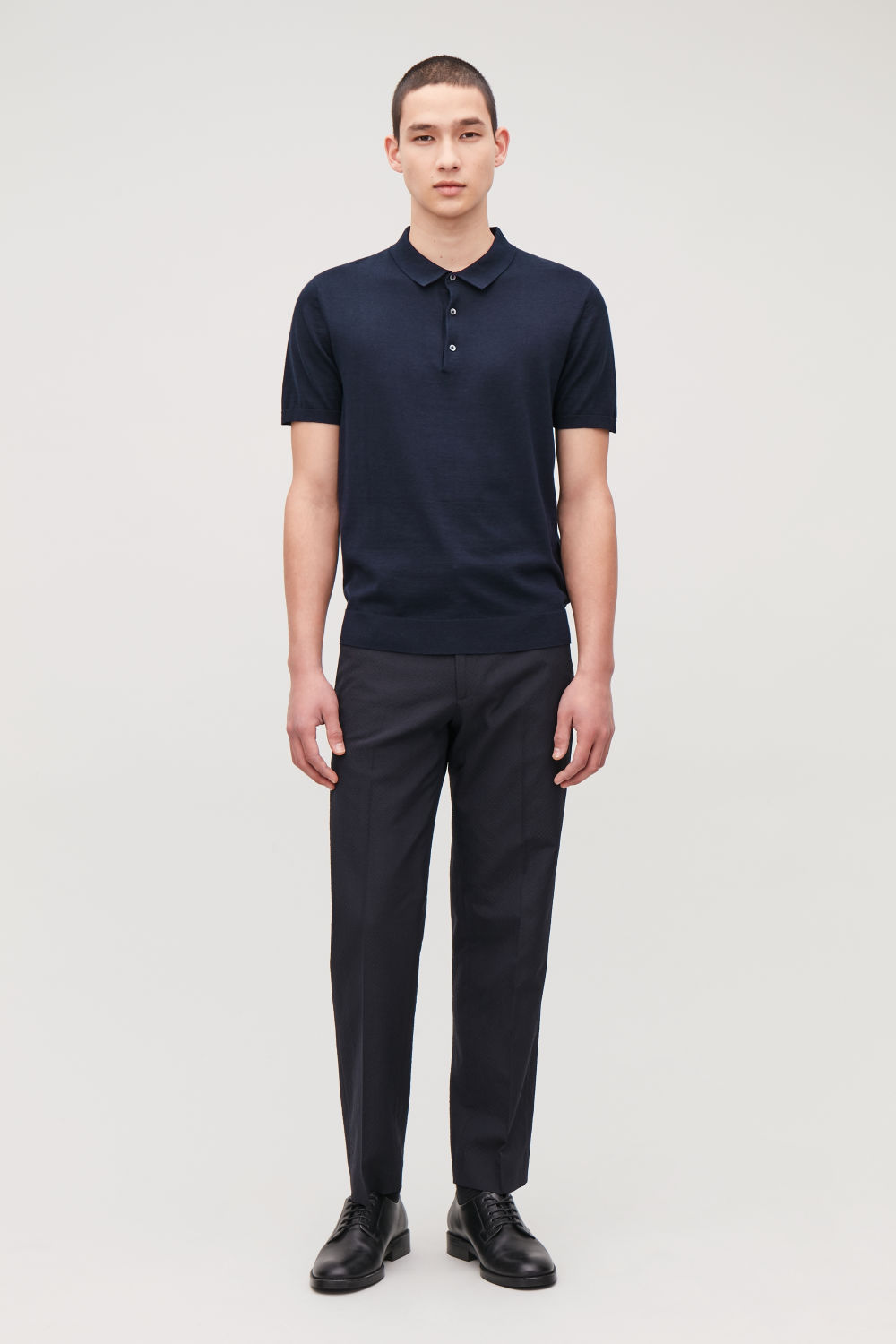 SILK-COTTON POLO SHIRT