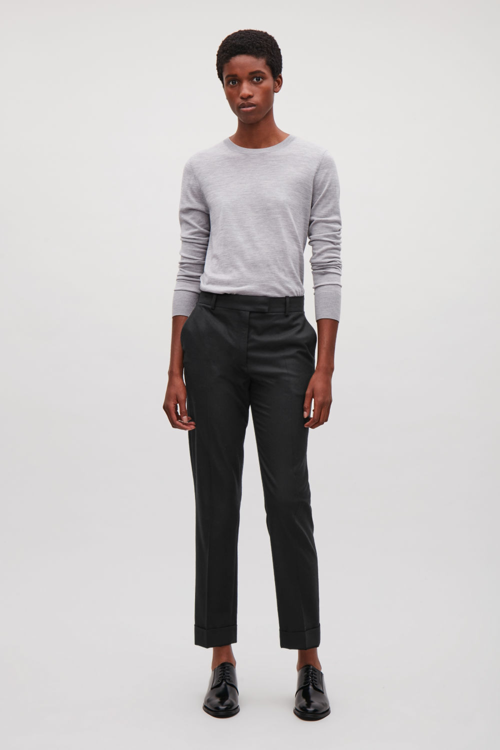 0e0d4ce978cc1 STRAIGHT-LEG WOOL TROUSERS ...