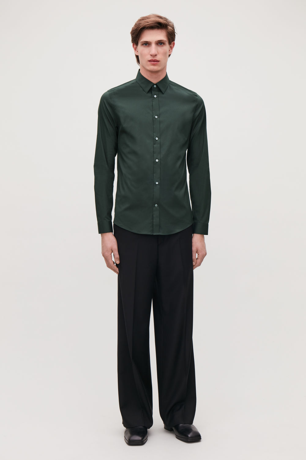 SLIM-FIT STRETCH-COTTON SHIRT
