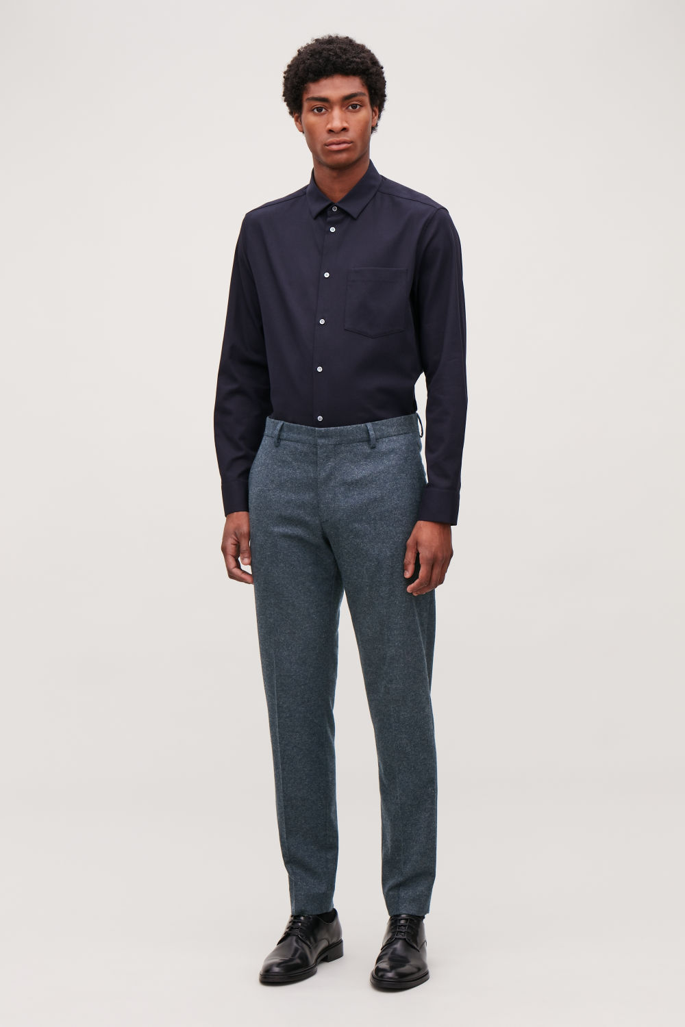 WOOL MELANGE TROUSERS