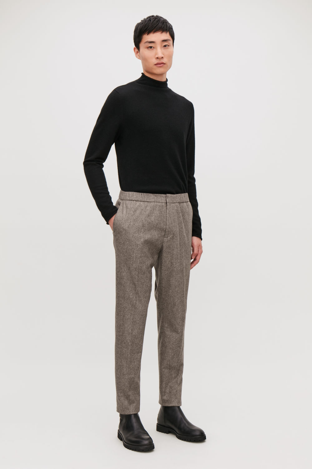 SLIM DRAWSTRING TROUSERS