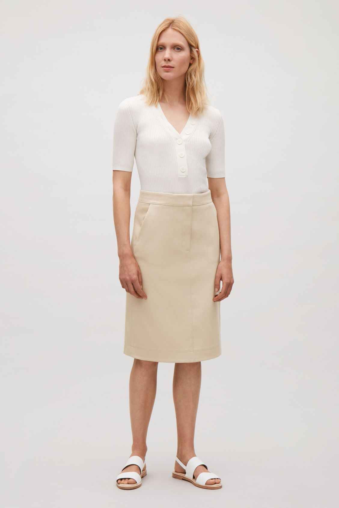 eec1cff80 Shoptagr | A Line Twill Skirt by Cos