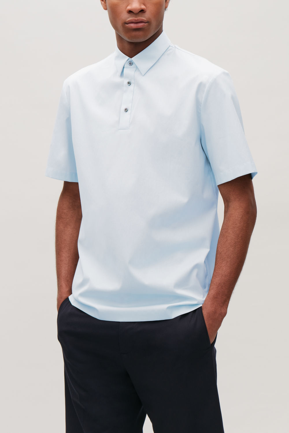 COTTON-POPLIN POLO SHIRT