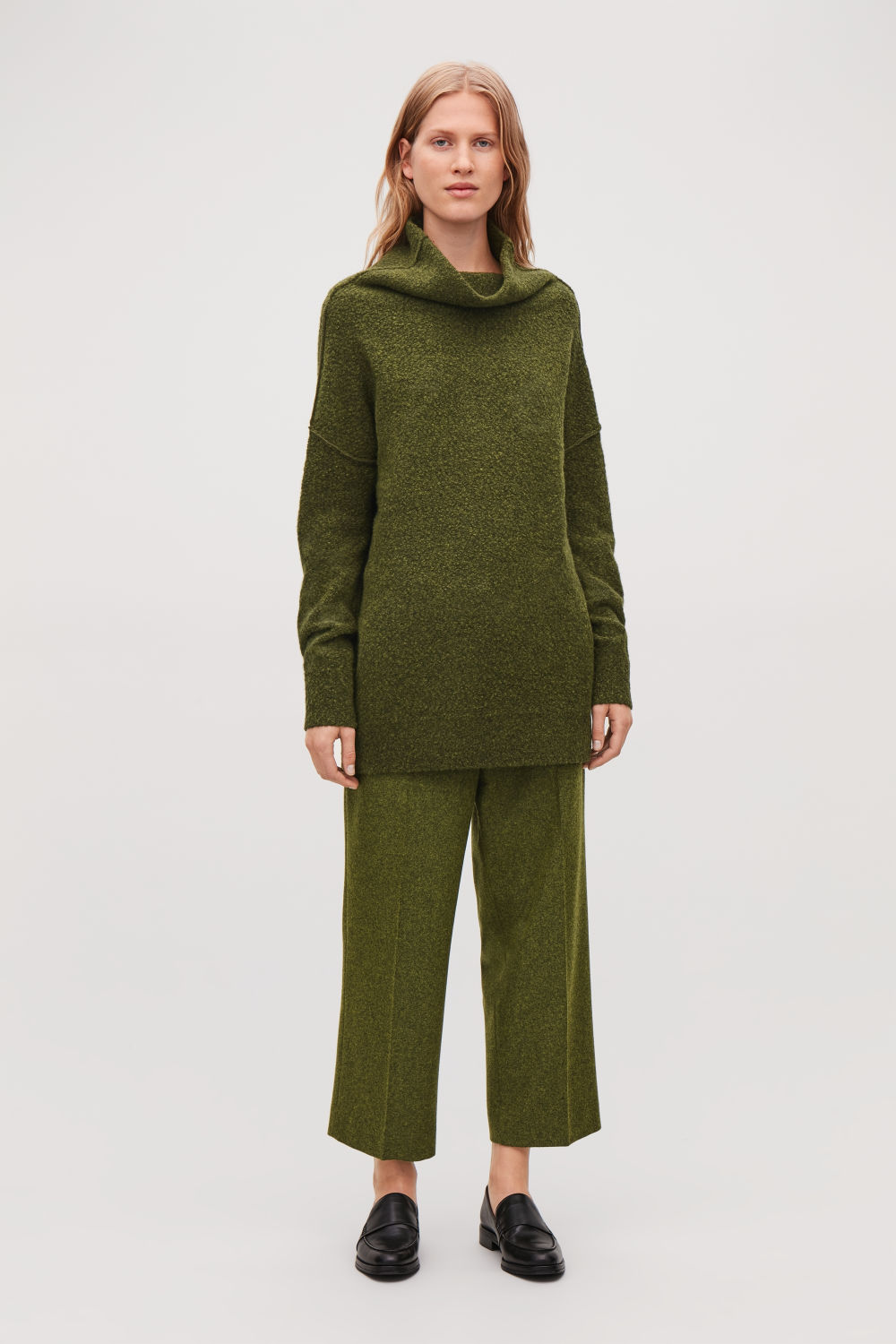 BOBBLE-STITCH OVERSIZED JUMPER