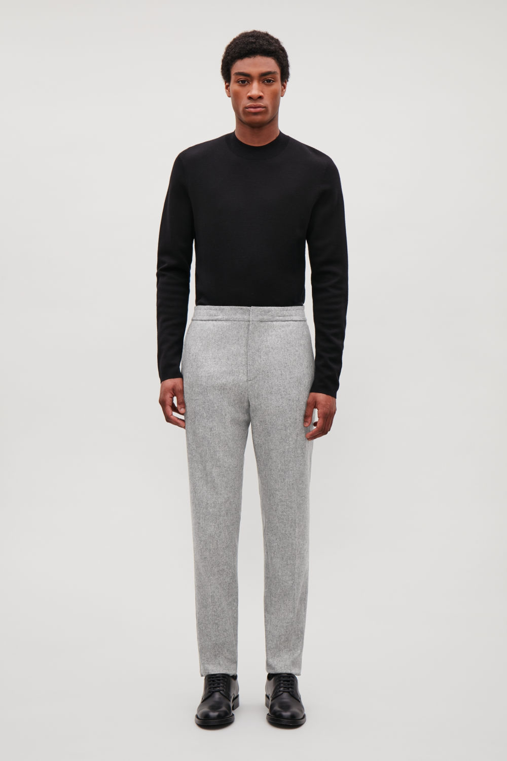 DRAWSTRING WOOL-FELT TROUSERS