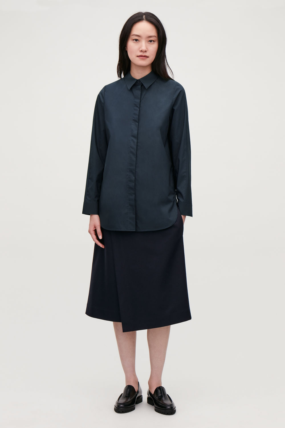 COCOON COTTON-POPLIN SHIRT