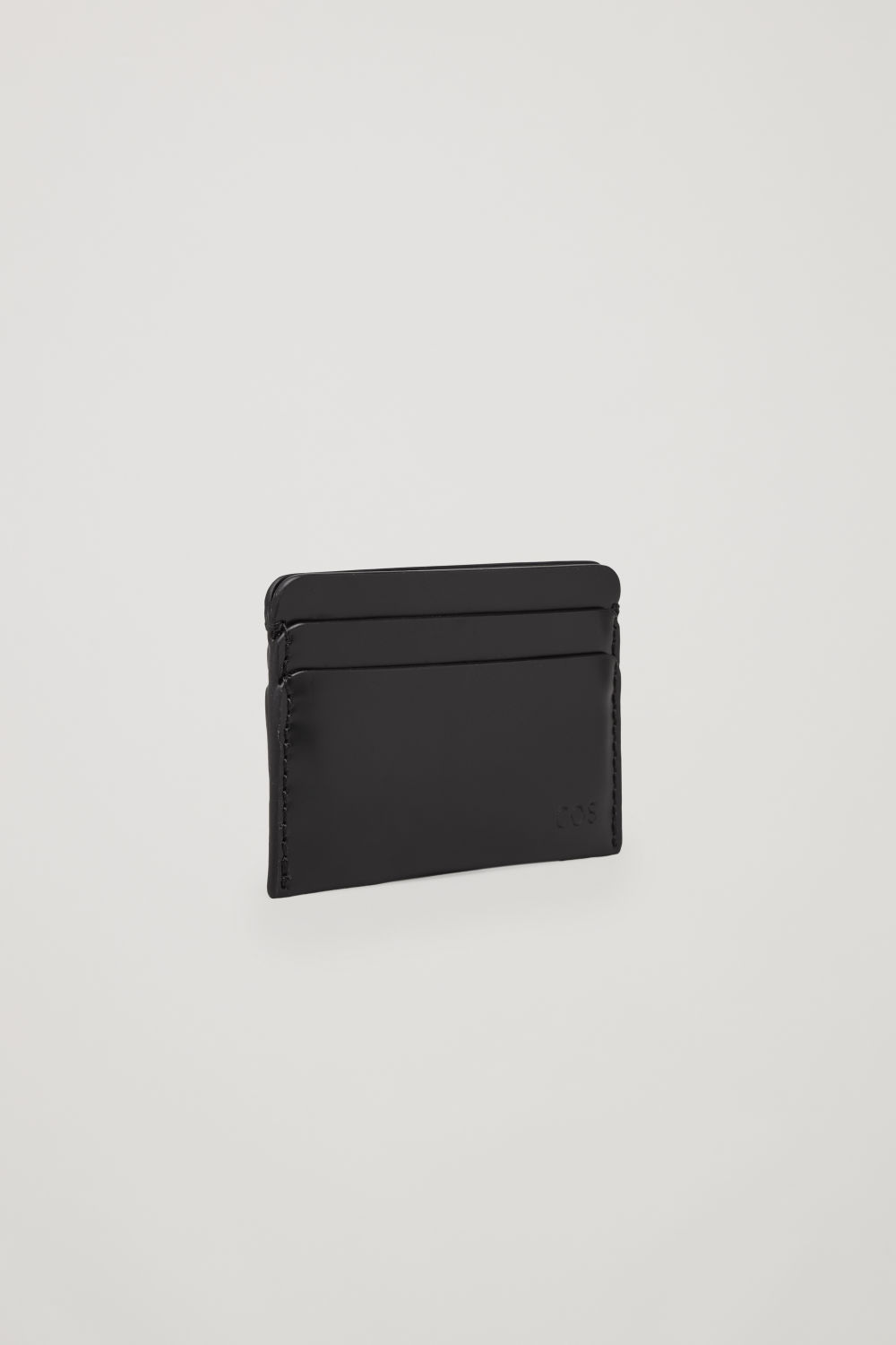 ROUND-EDGED LEATHER CARDHOLDER