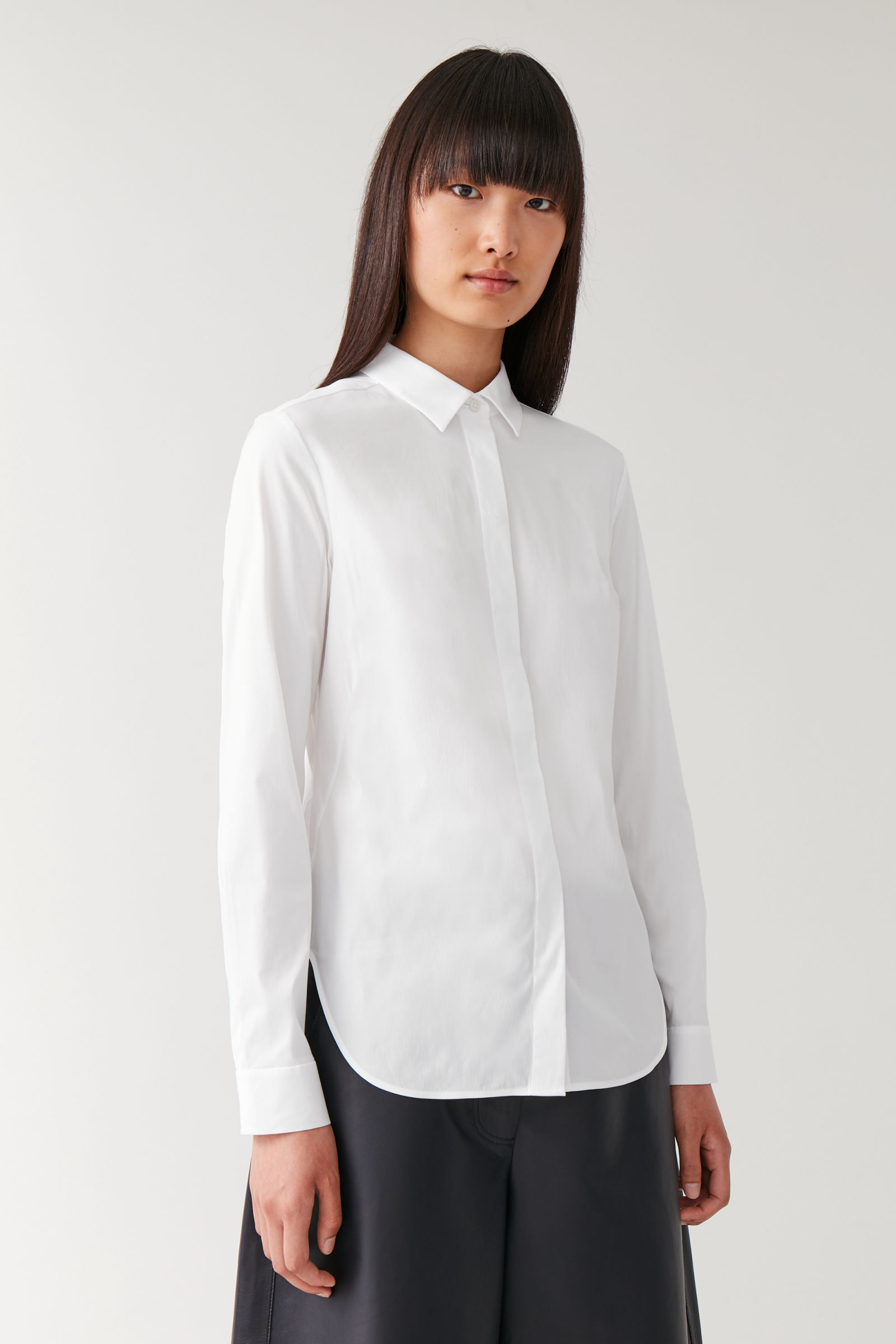 COS SLIM-FIT SHIRT,White