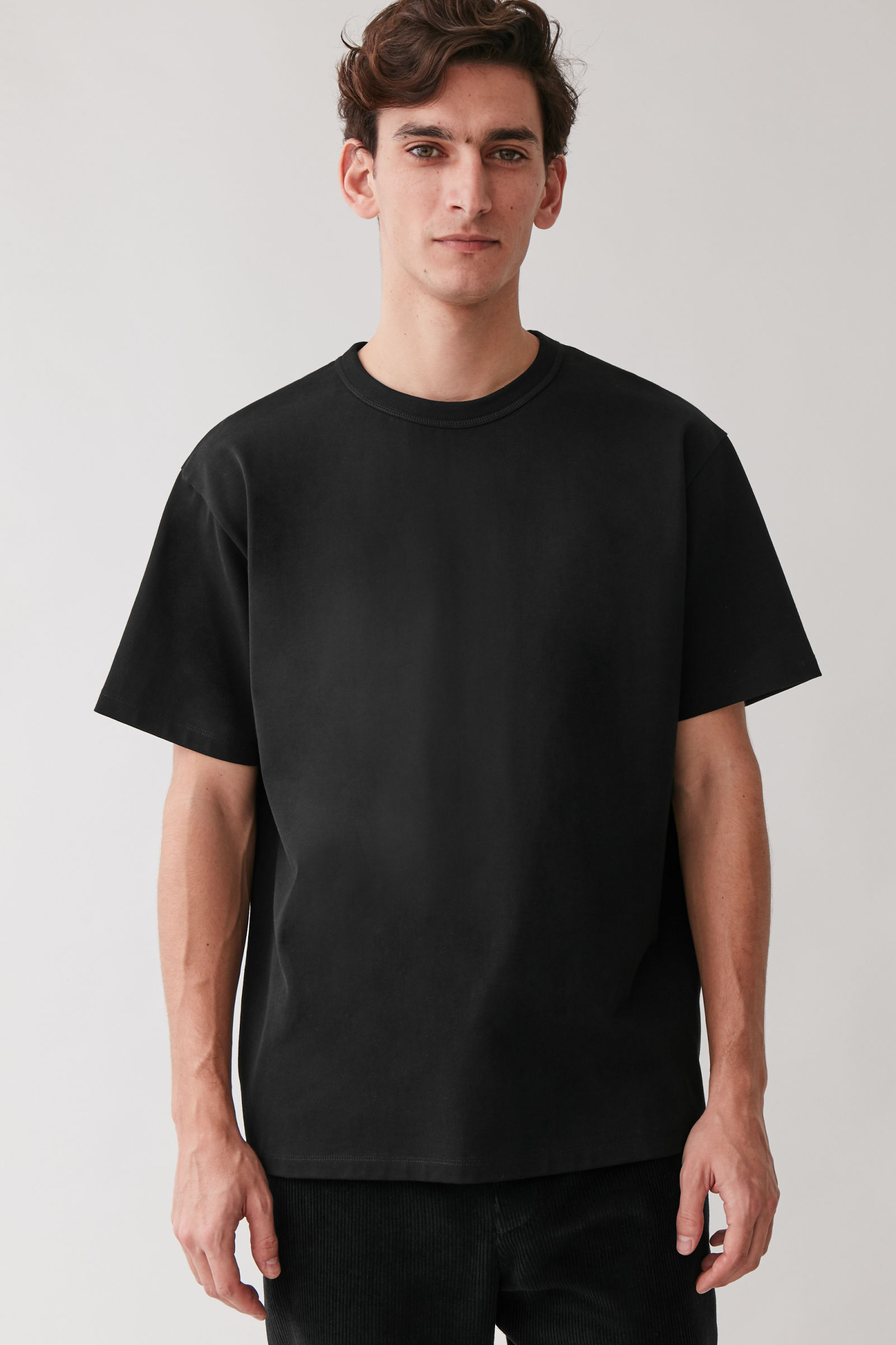 COS RELAXED-FIT T-SHIRT,Black