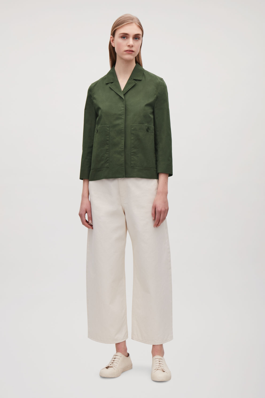0752dca2828 Shoptagr | Cropped Jacket With Pockets by Cos