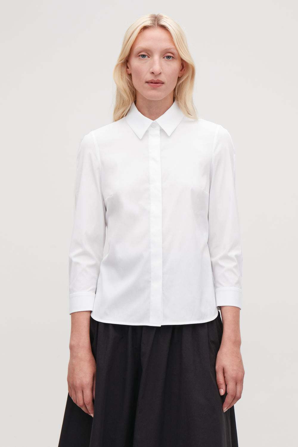 SLIM STRETCH-COTTON SHIRT