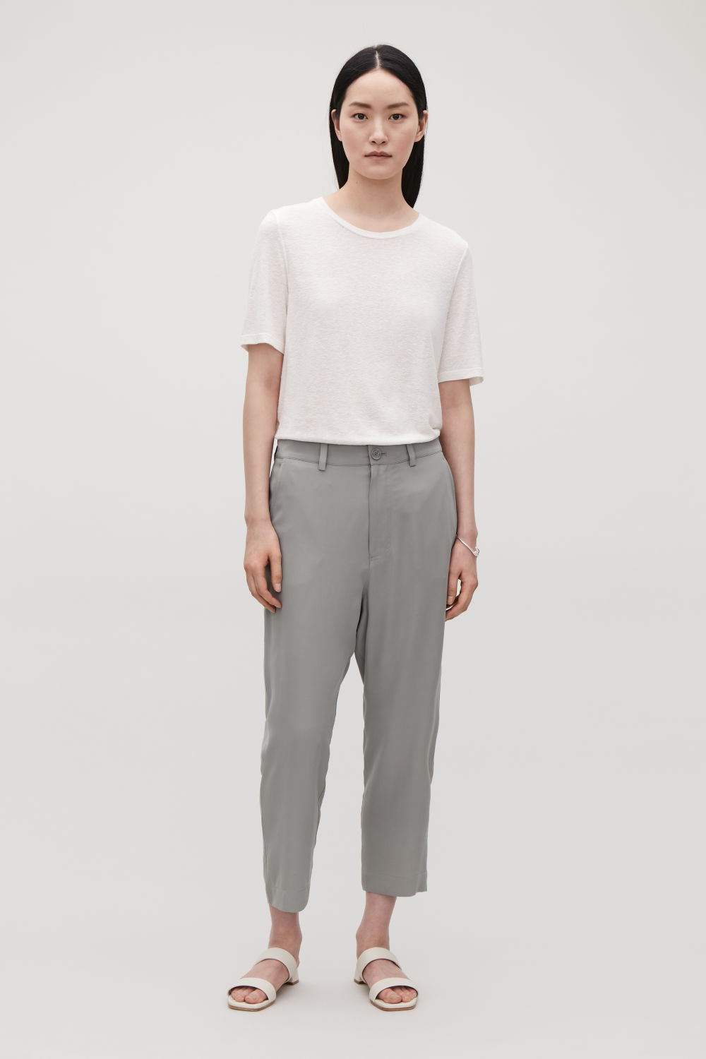 RELAXED SILK TROUSERS