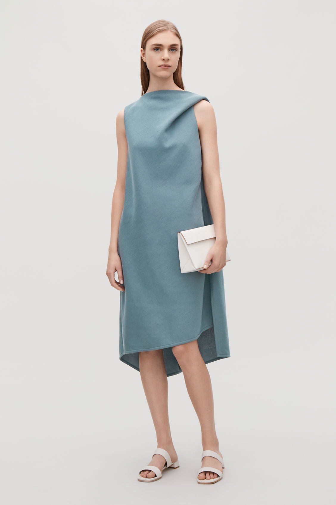 lanvin women drapes jersey blue draped ro f online dress