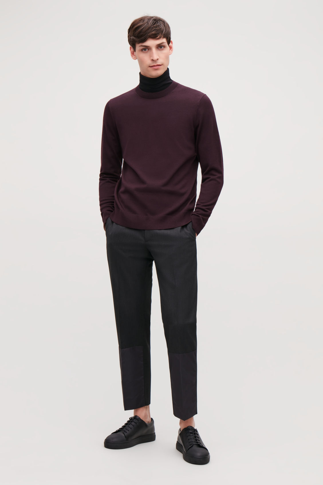 Model front image of Cos merino wool jumper in red