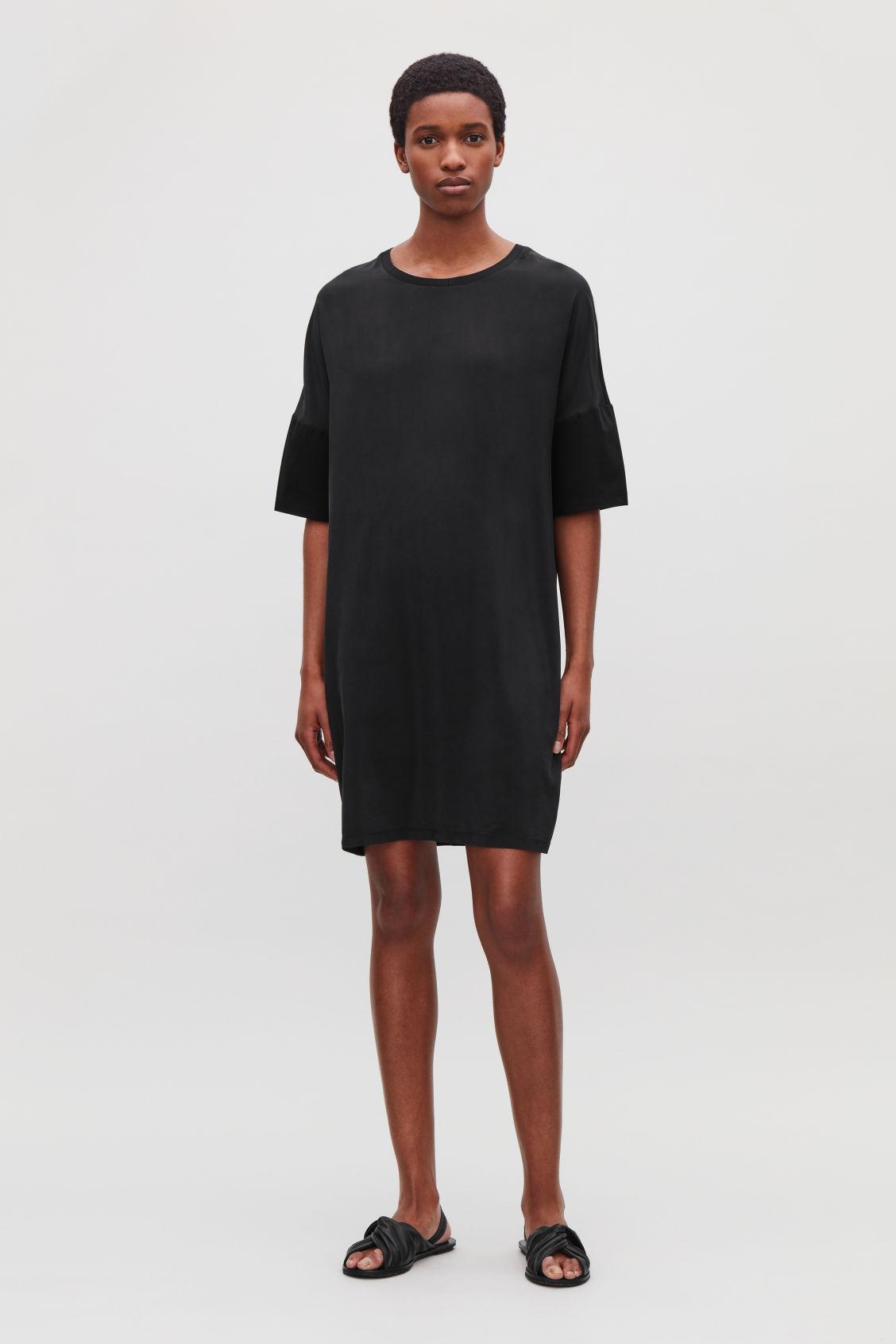 Silk Jersey T Shirt Dress Black Dresses Cos