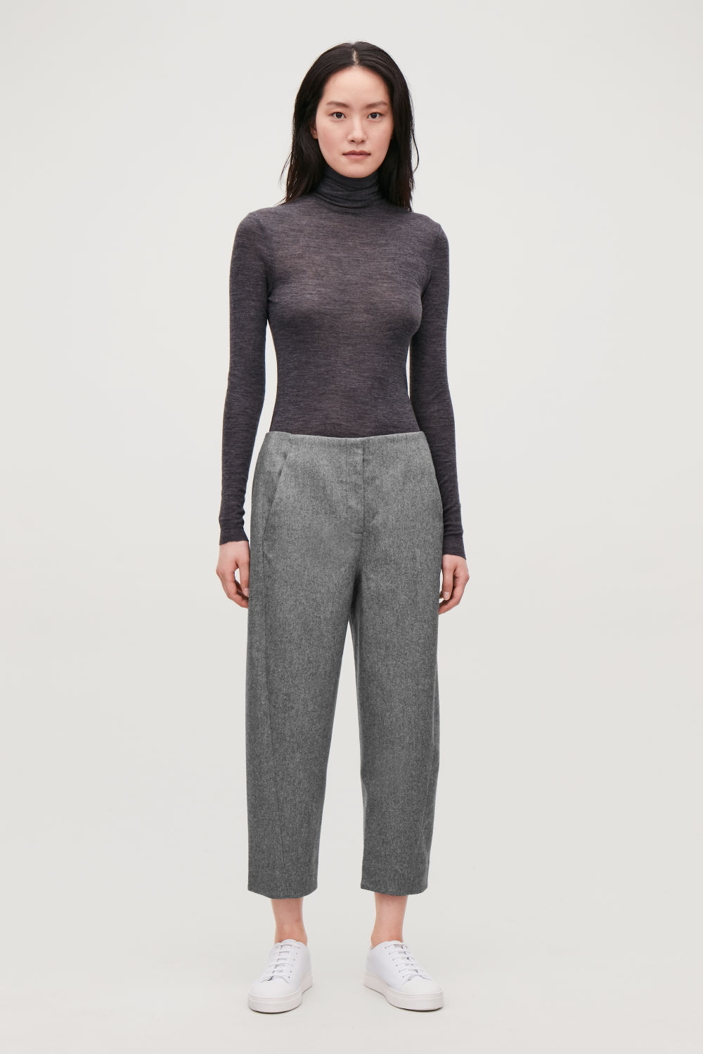 TWISTED-SEAM WOOL TROUSERS