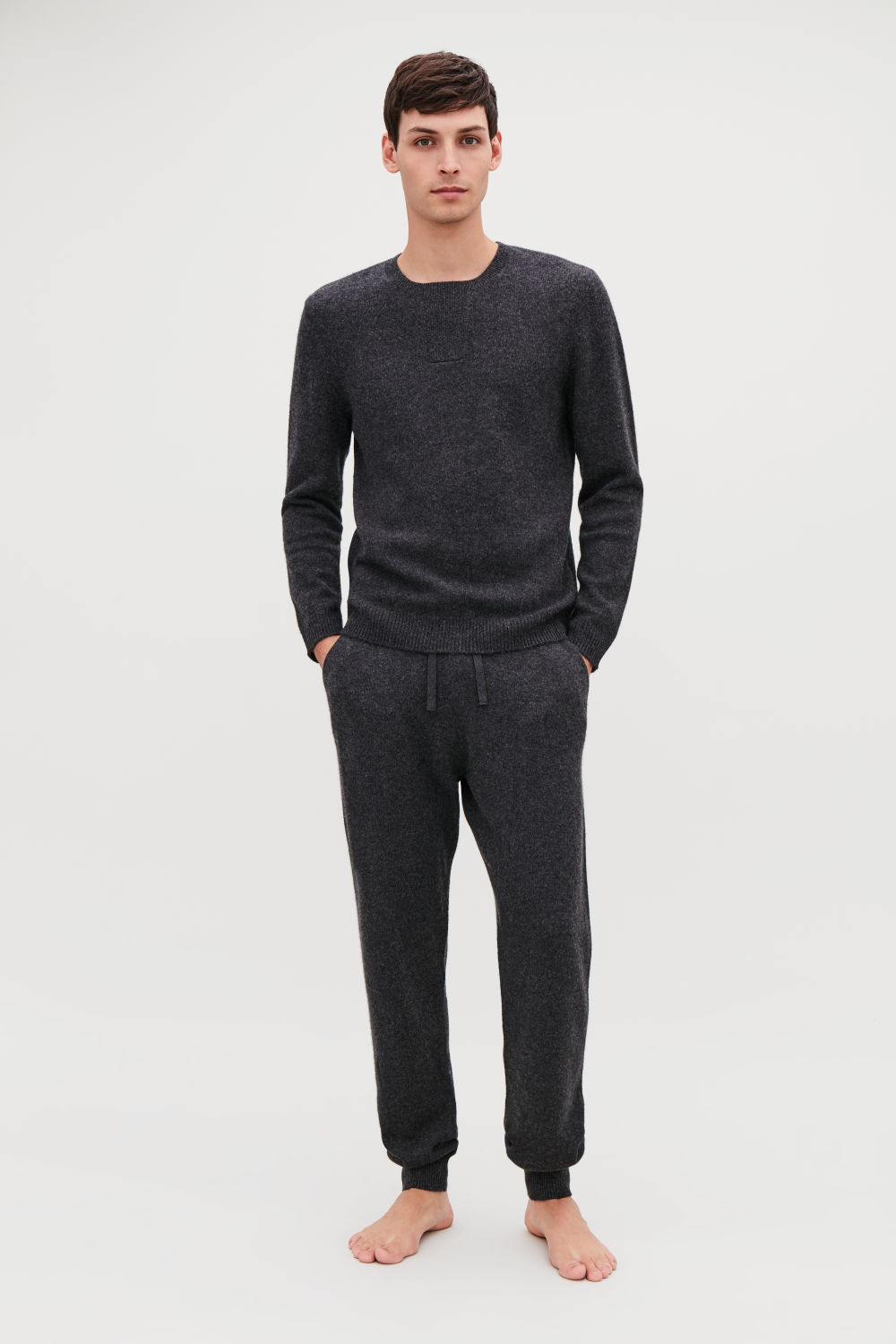 RELAXED CASHMERE TROUSERS
