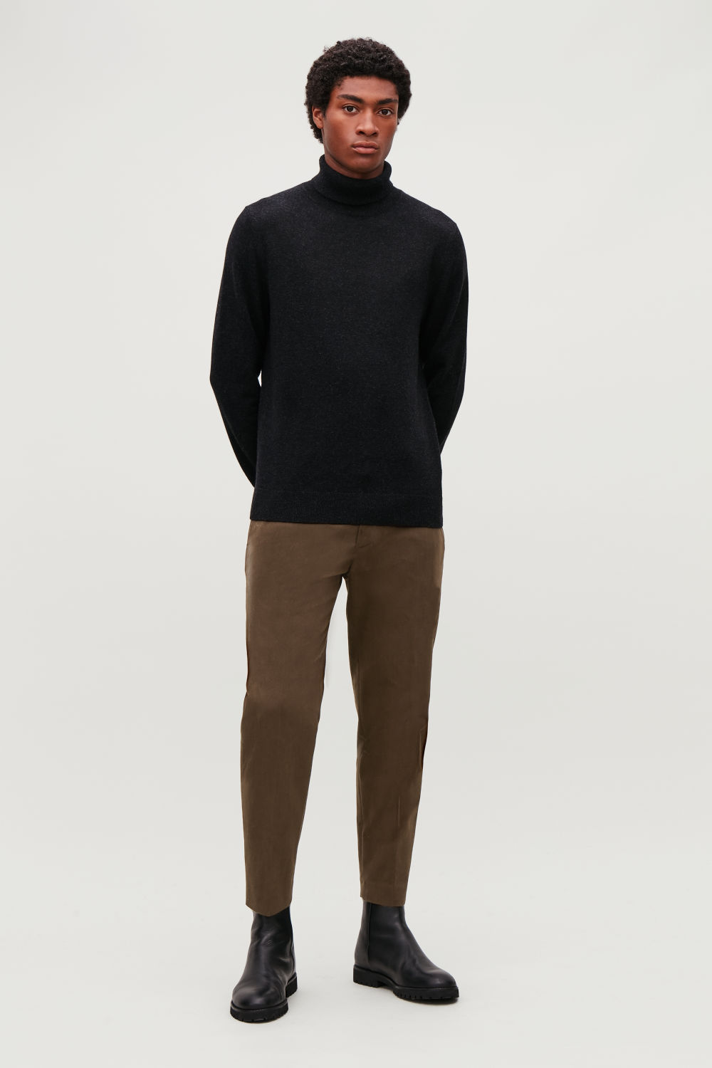 SLIM-FIT MOLESKIN TROUSERS